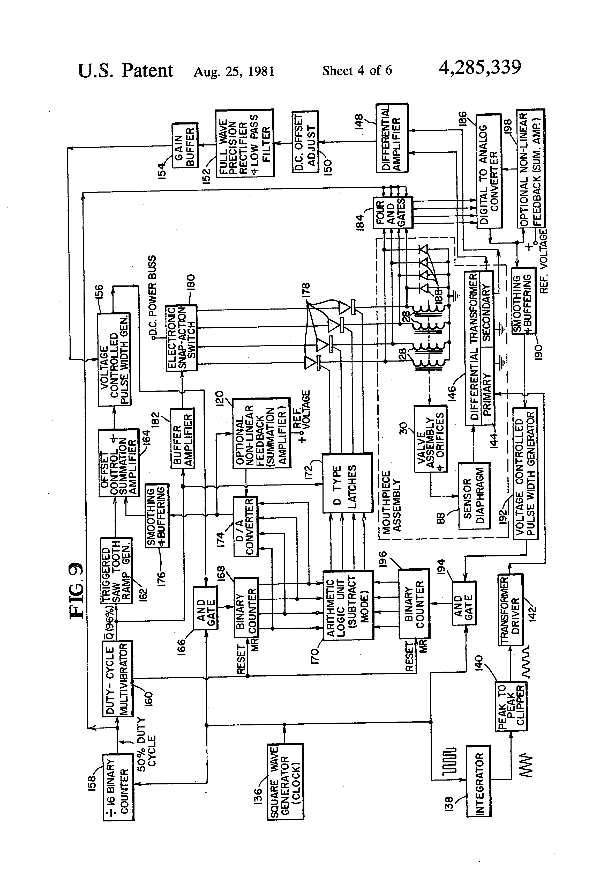 patent us4285339 electronic closed loop servomechanism and patent drawing