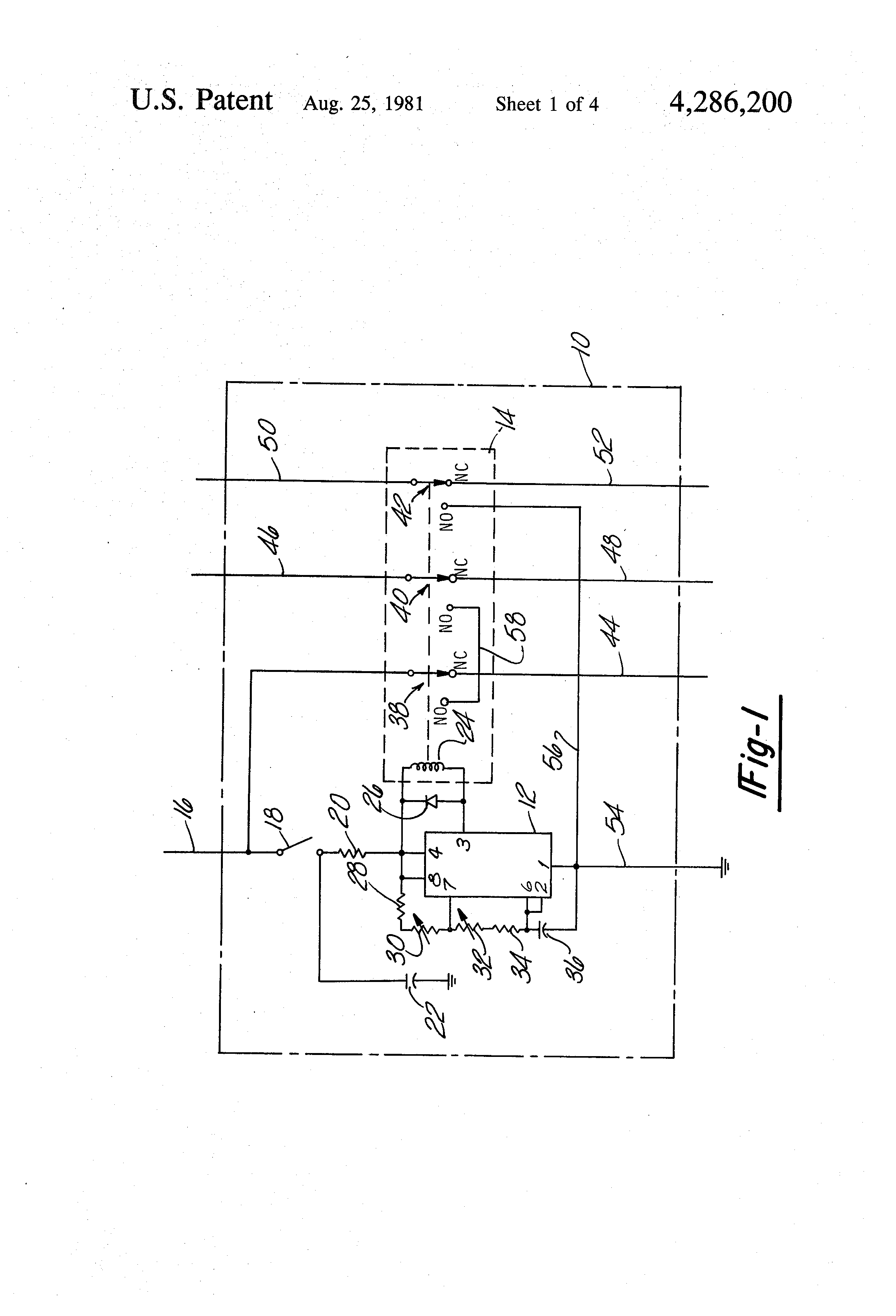US4286200 1 patent us4286200 universal intermittent windshield wiper circuit Universal Wiper Motor Wiring Diagram at virtualis.co