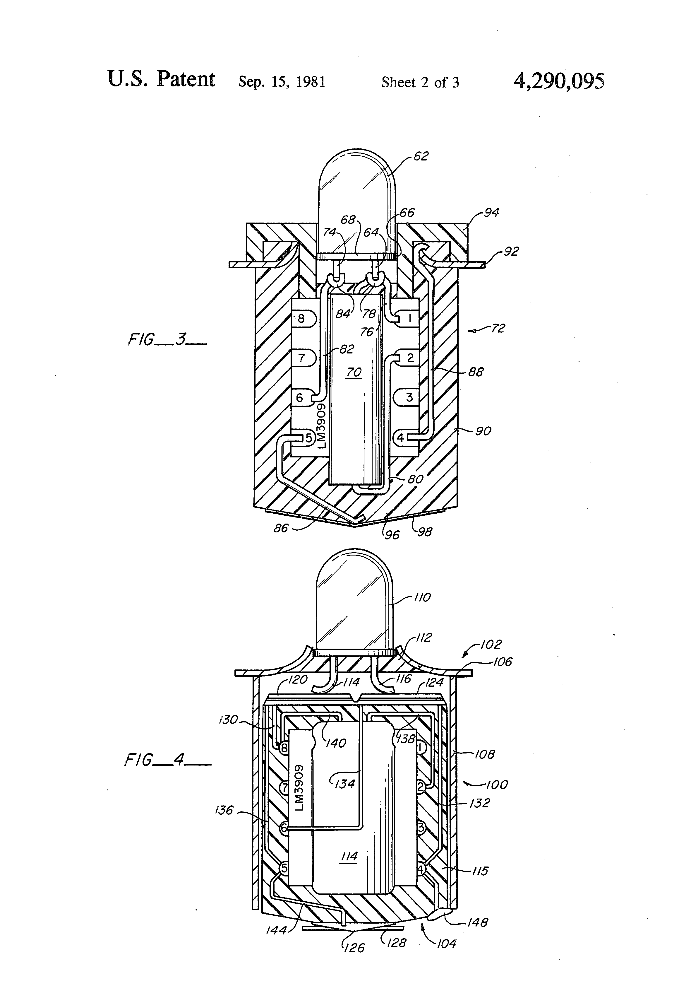 patent us4290095 - aiming post light
