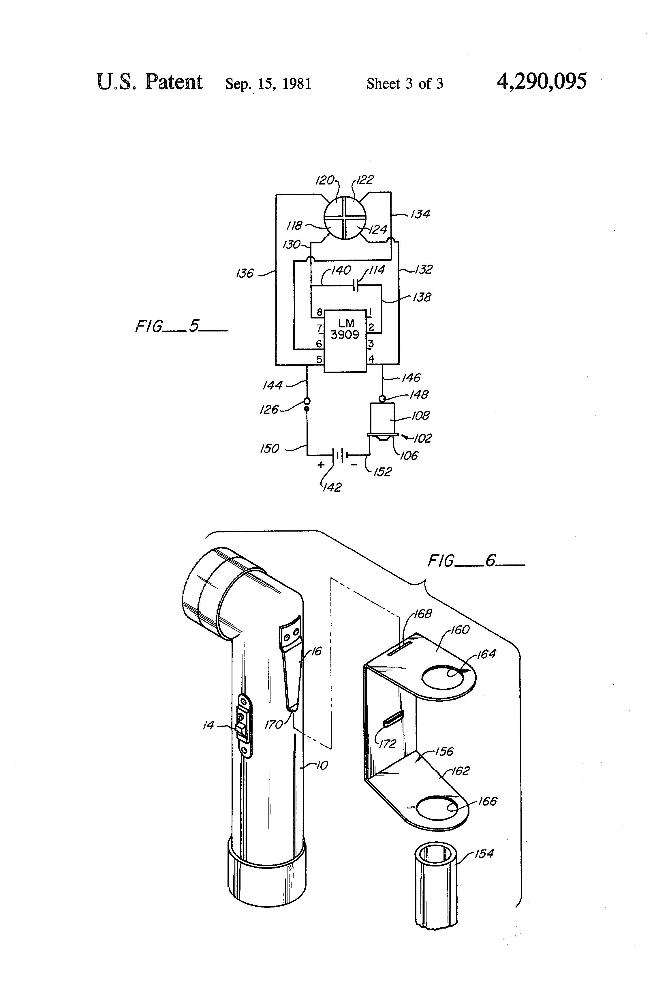 patent us4290095 - aiming post light
