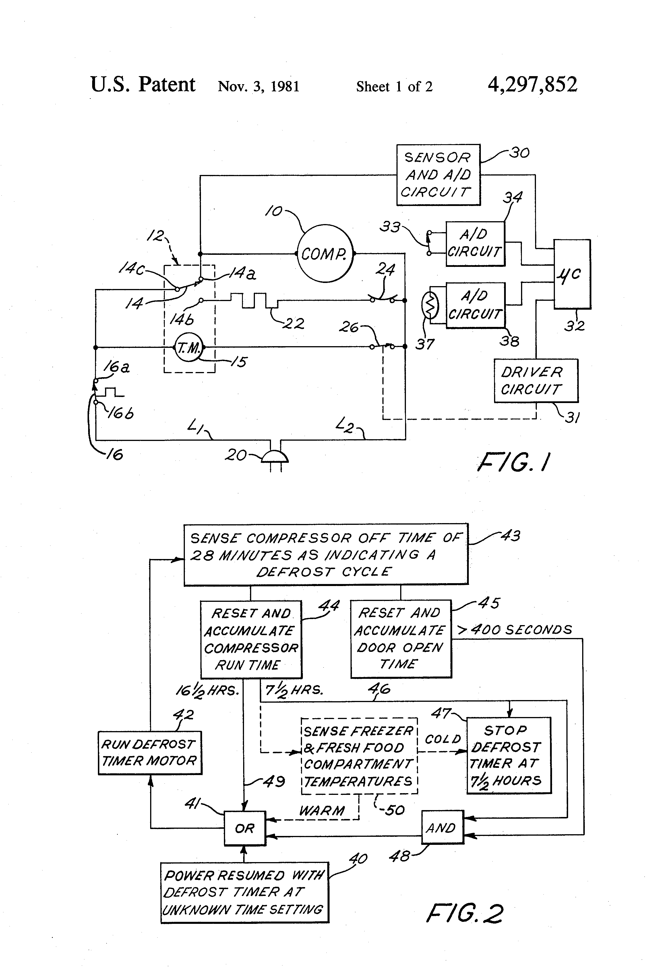 US4297852 1 patent us4297852 refrigerator defrost control with control of paragon timer wiring diagrams at gsmx.co
