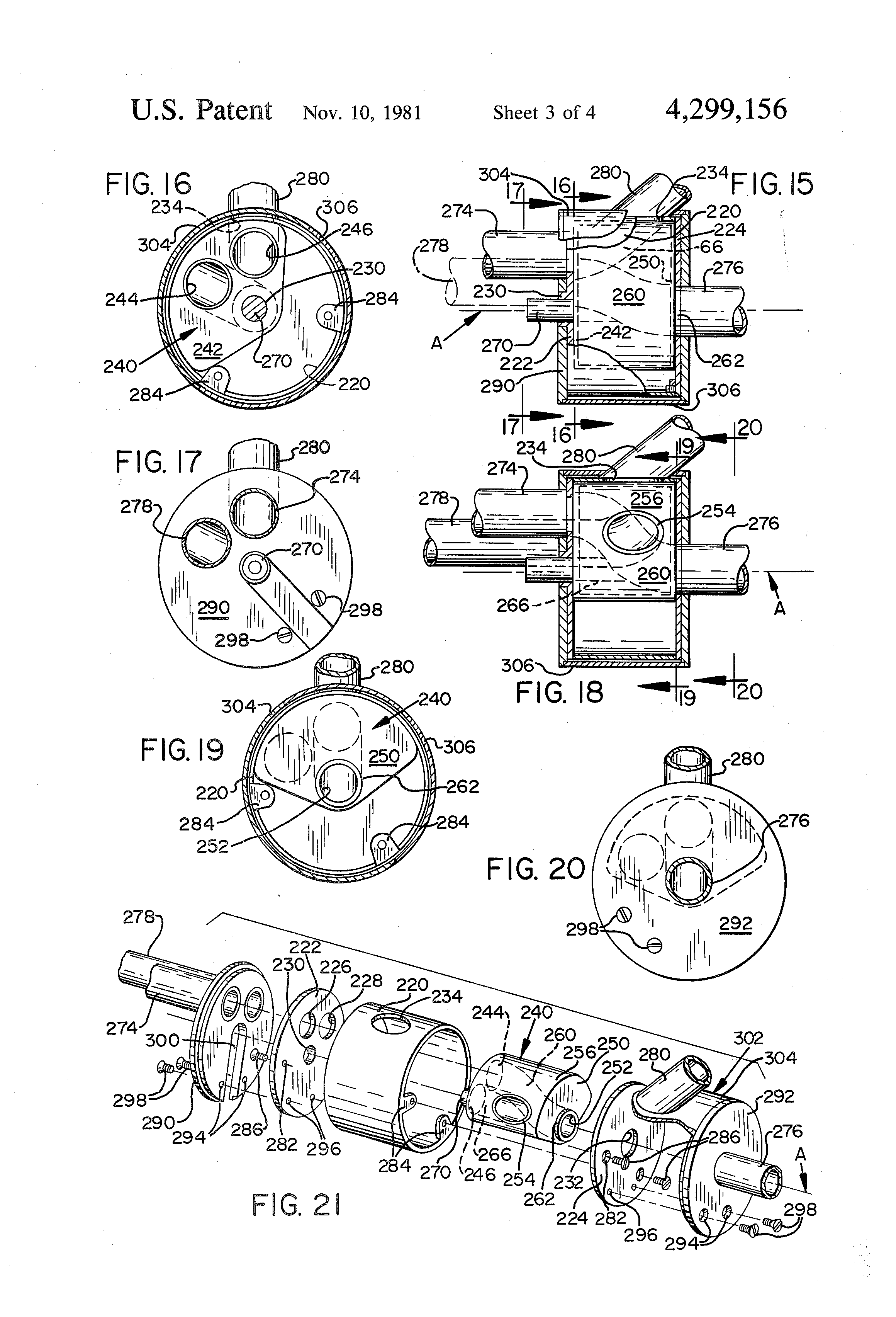 patent us4299156 - axial flow valve