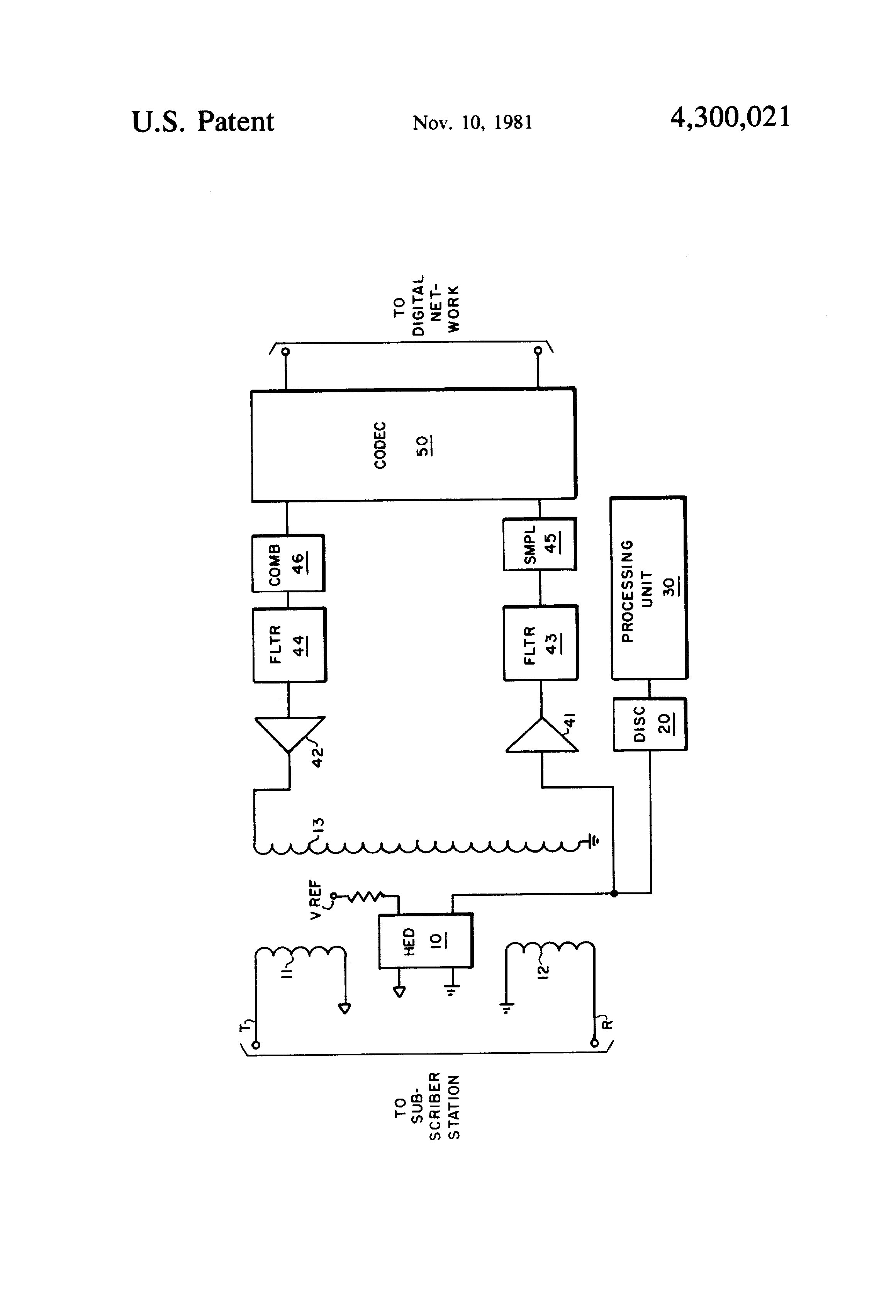 Patent Us4300021 Line Circuit Controlled By A Hall Effect Device Circuits Drawing