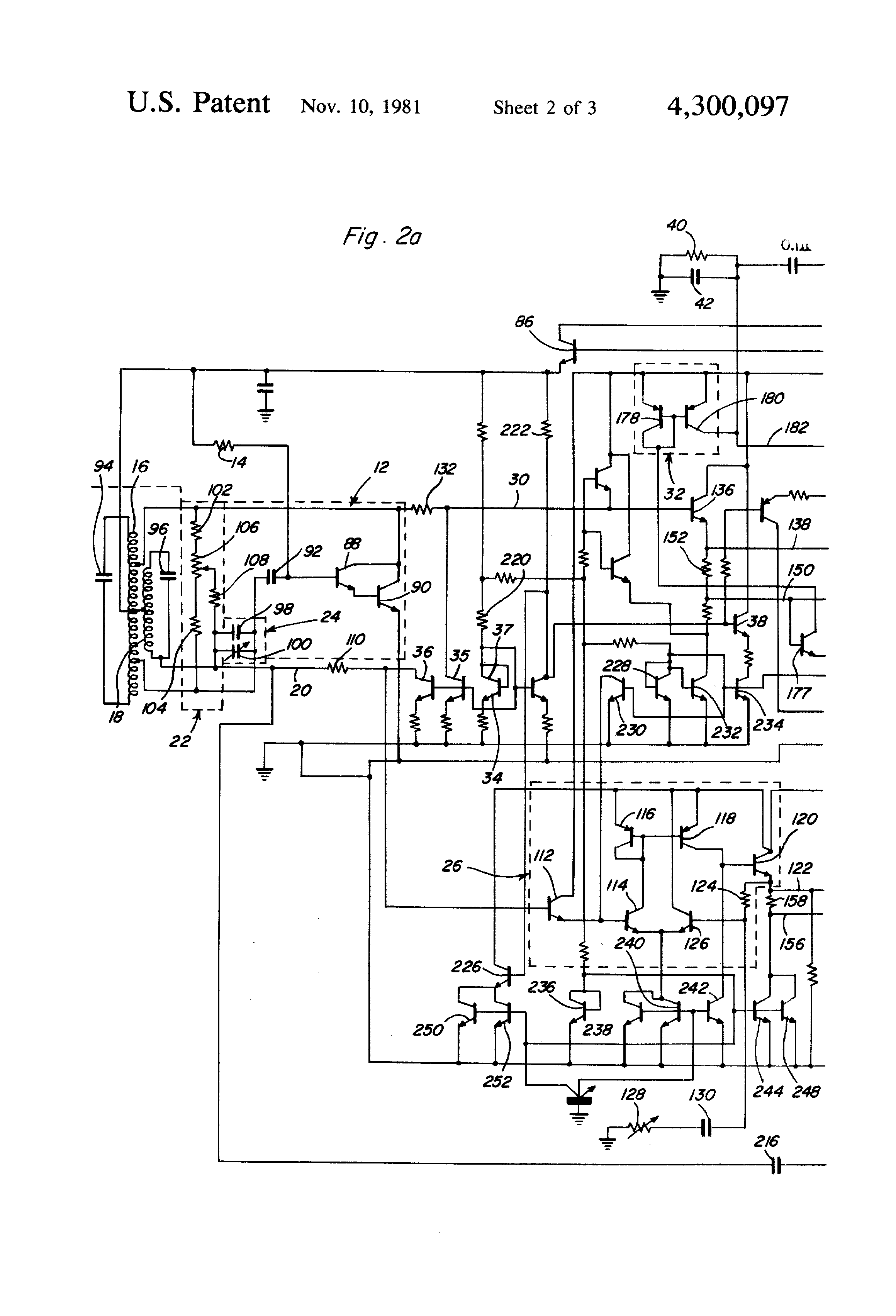 US4300097 2 patent us4300097 induction balance metal detector with ferrous safeline metal detector wiring diagram at mifinder.co