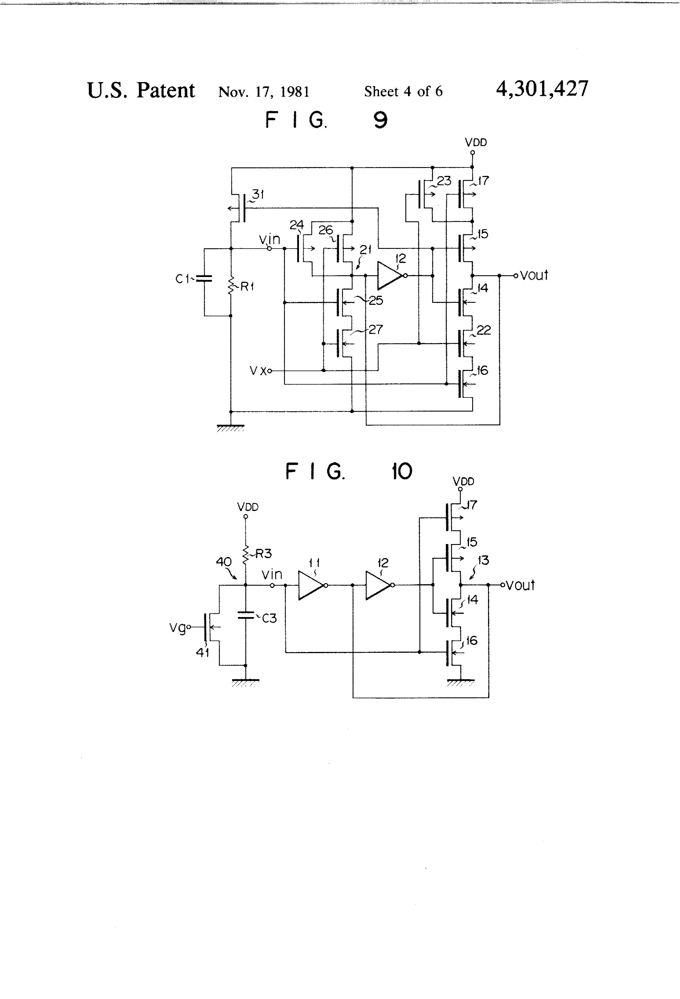 patent us4301427 - astable mos fet multivibrator