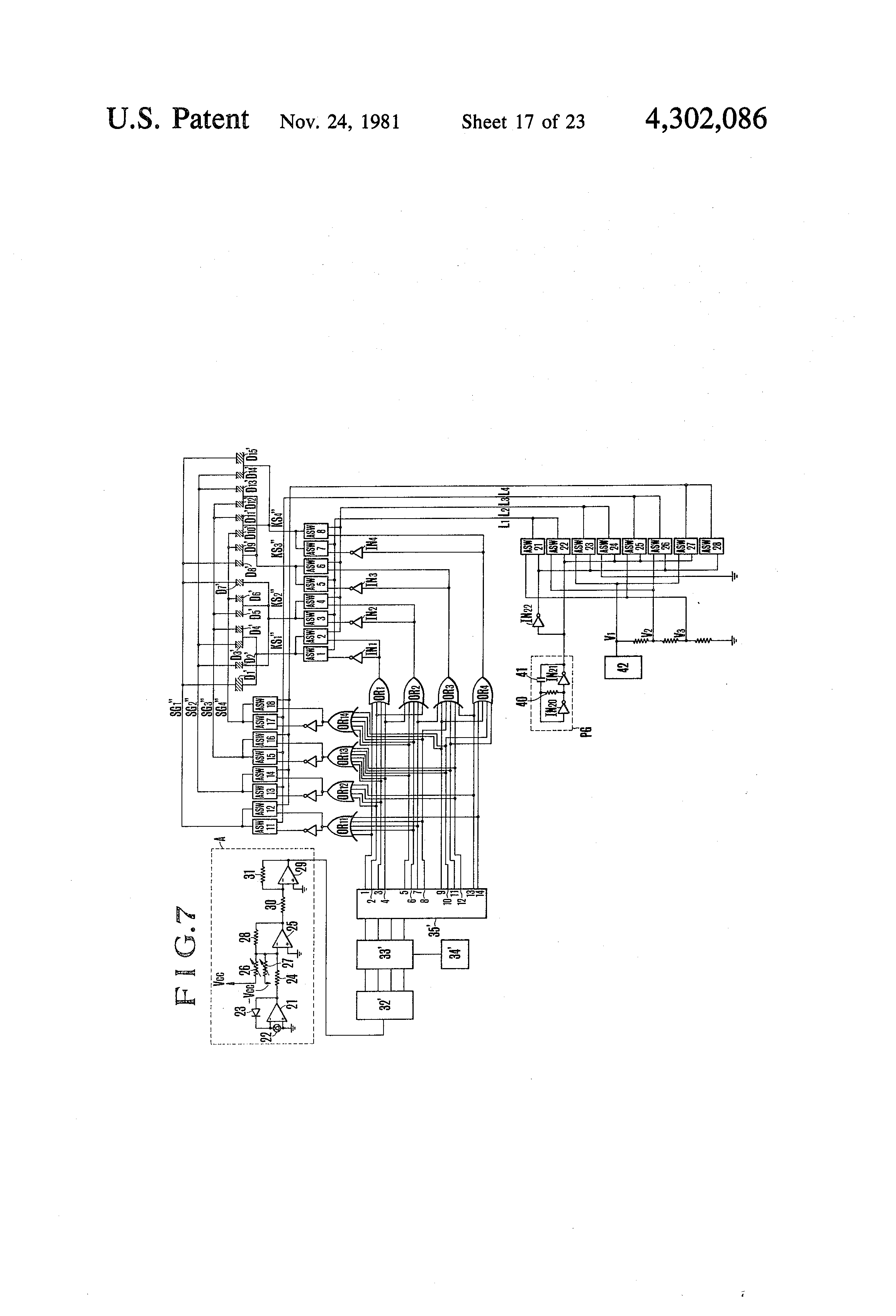 Patent Us4302086 Liquid Crystal Indicator In Camera Finder Circuit Diagram Ks2 Drawing