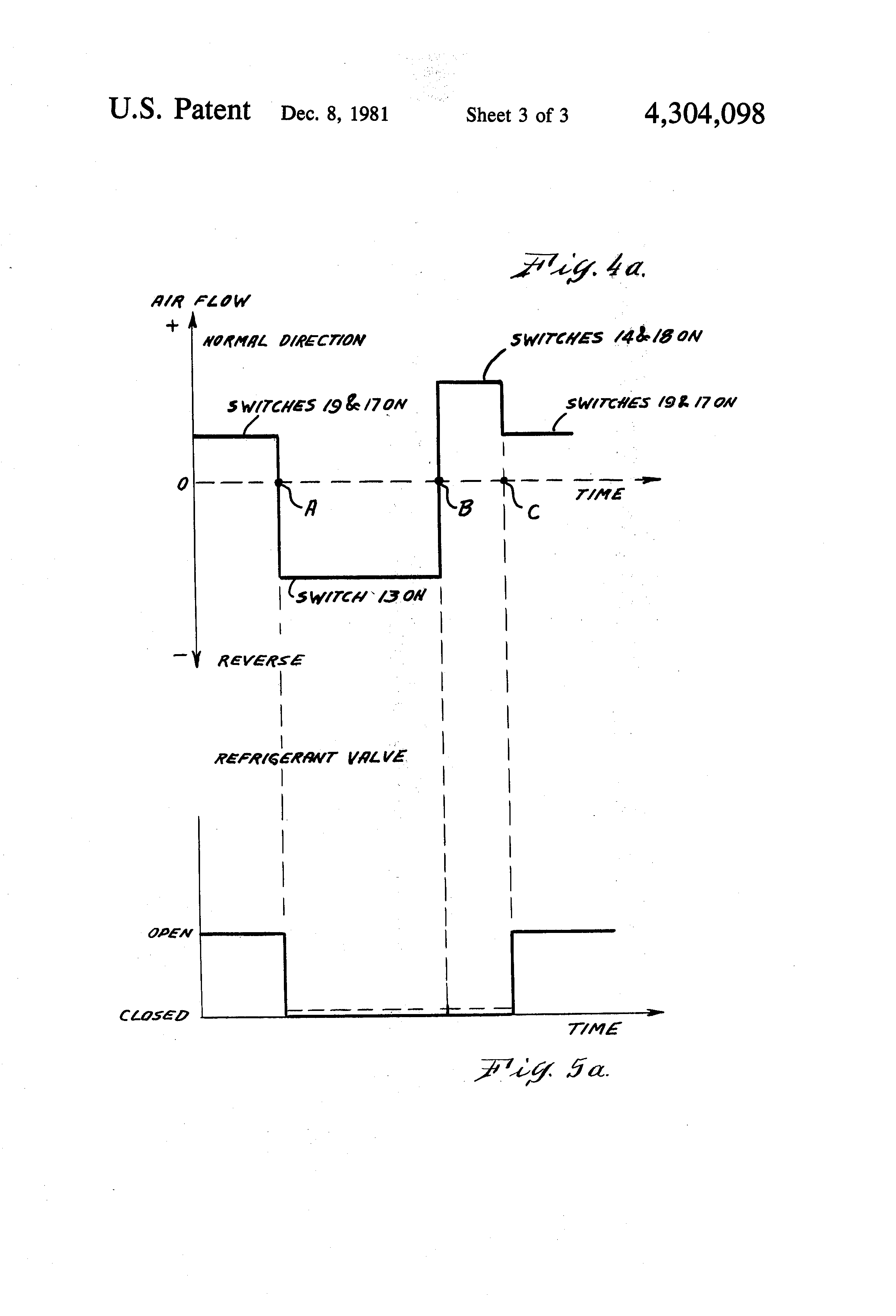 patent us4304098 method and apparatus for defrosting cooling patent drawing