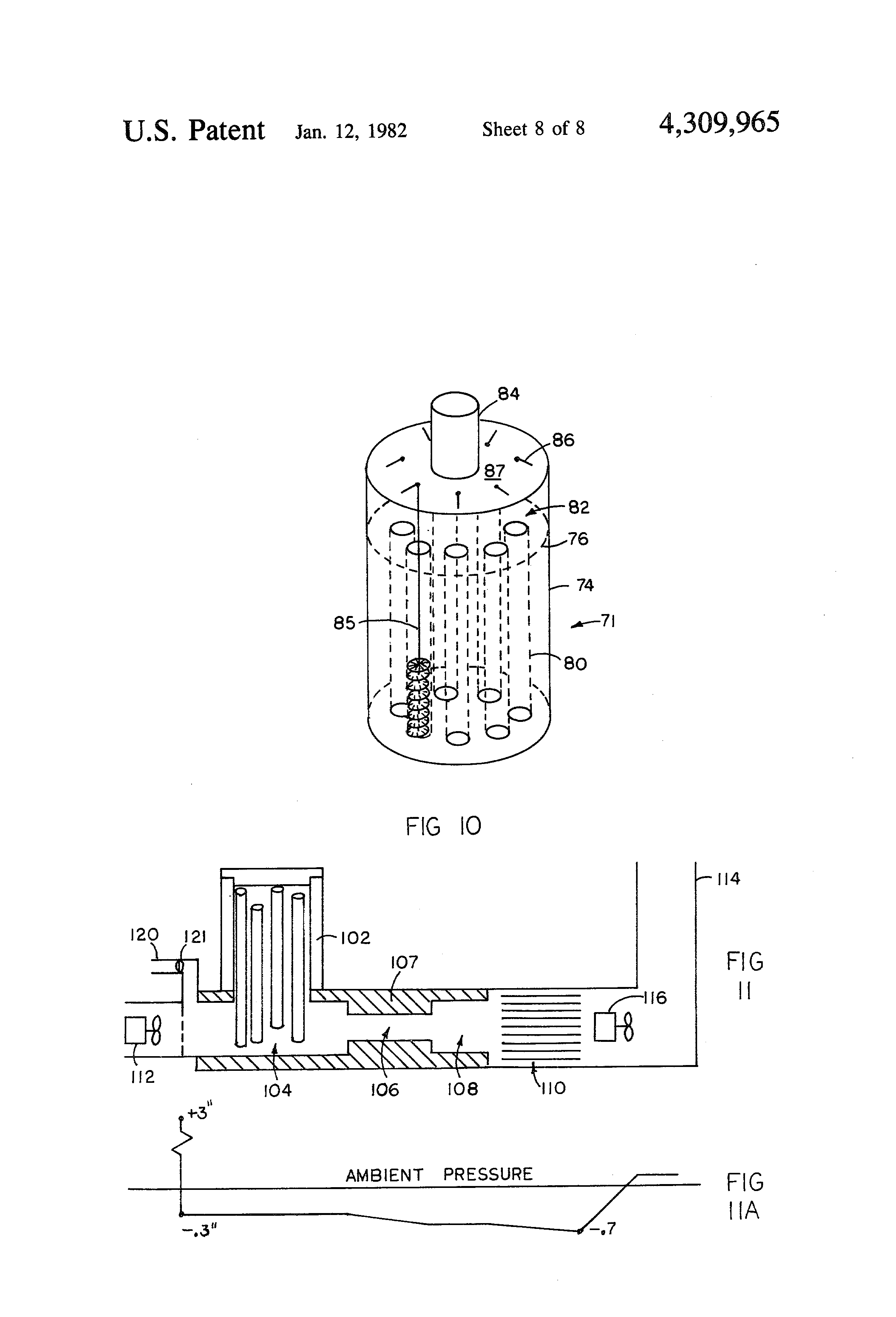 Patent US4309965 - Vertical feed stick wood fuel burning furnace ...