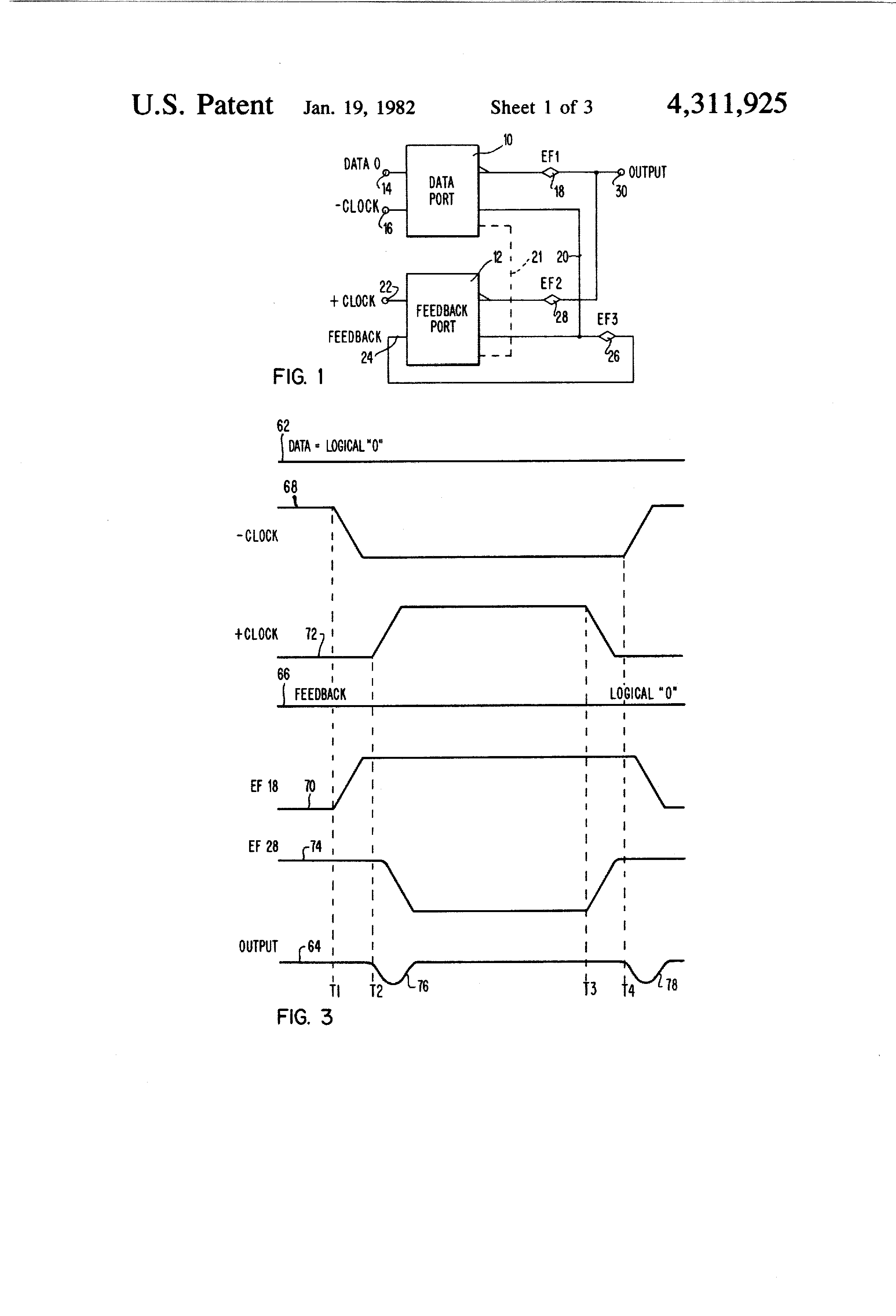 Patent Us4311925 Current Switch Emitter Follower Latch Having Circuit Drawing