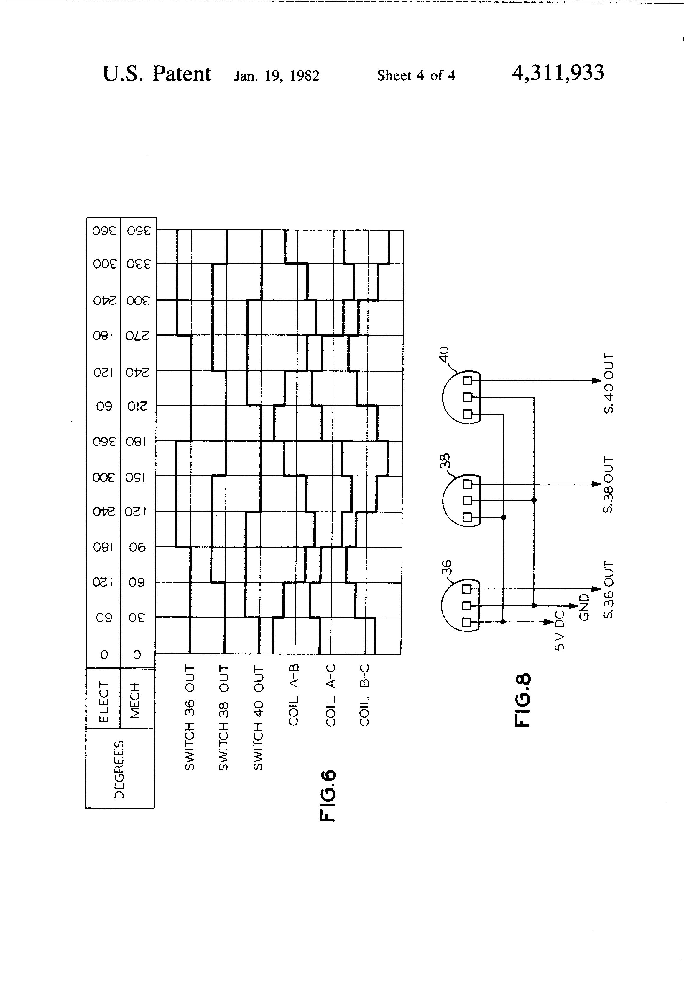 patent us4311933 - brushless direct current motor