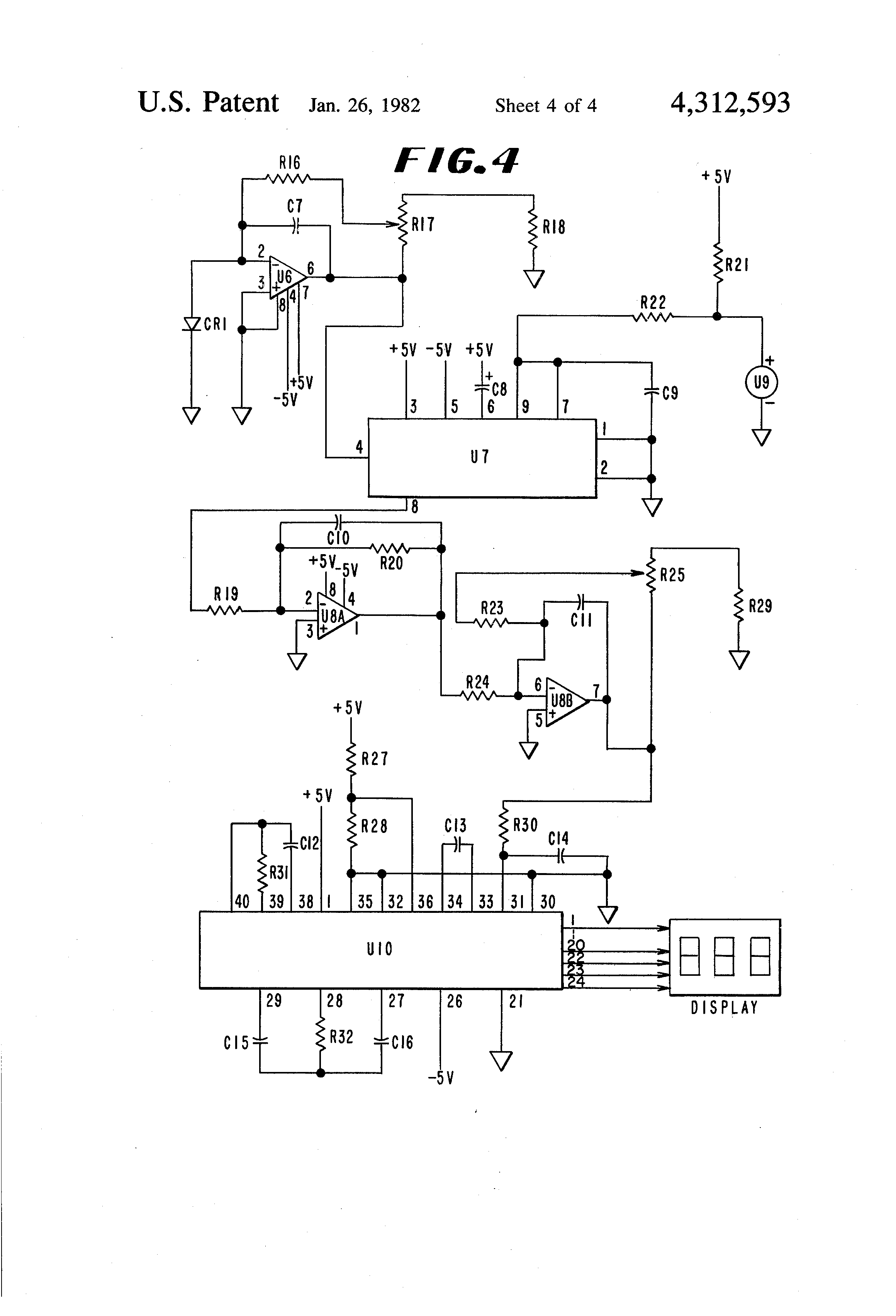 Patente Us4312593 Direct Readout Apparatus For Measuring Light Ac Dc Converter Circuit Diagram Composed Of Ad536 Is Shown As The Patent Drawing
