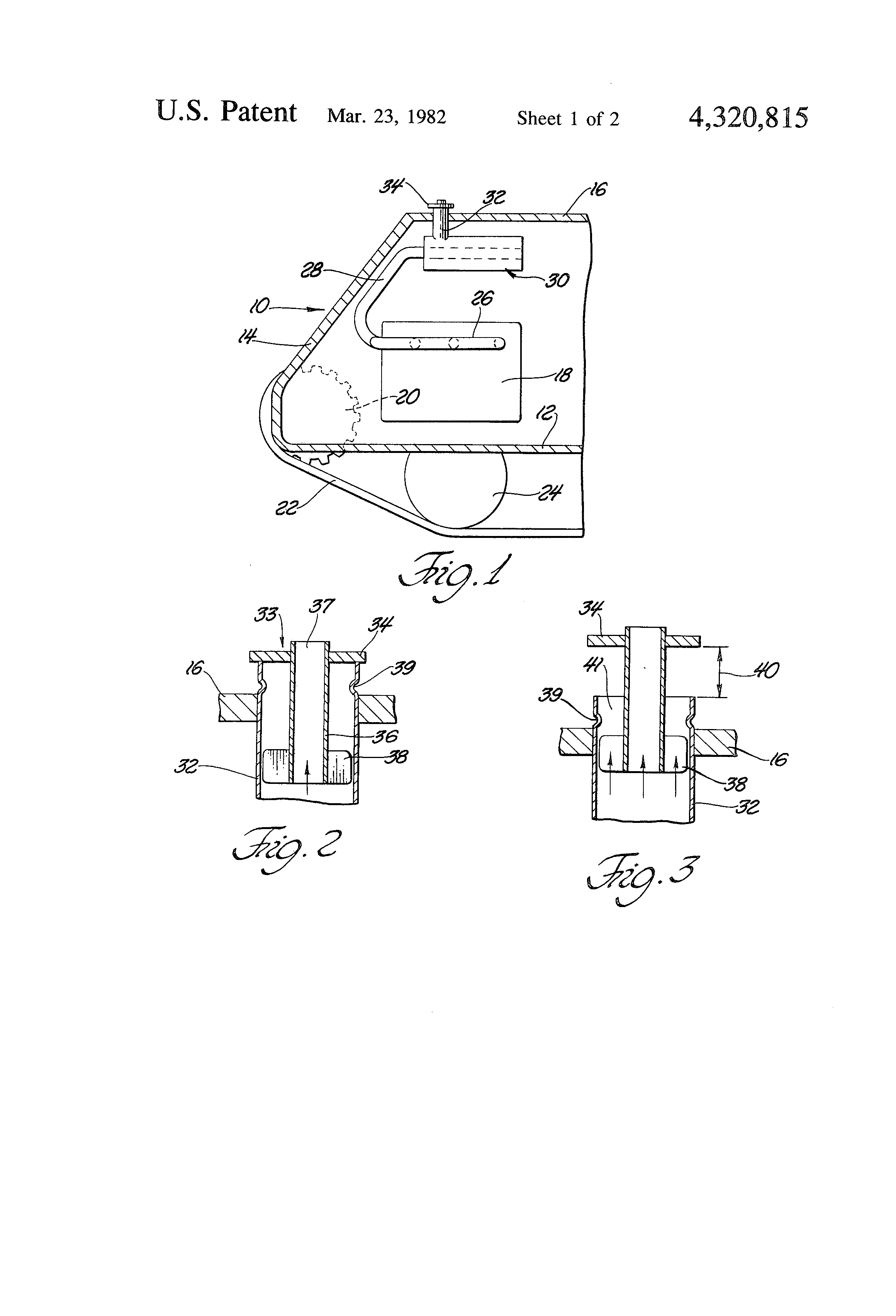 Patent Us4320815 Noise Reduction In Engine Exhaust Google Patents Diagram Drawing
