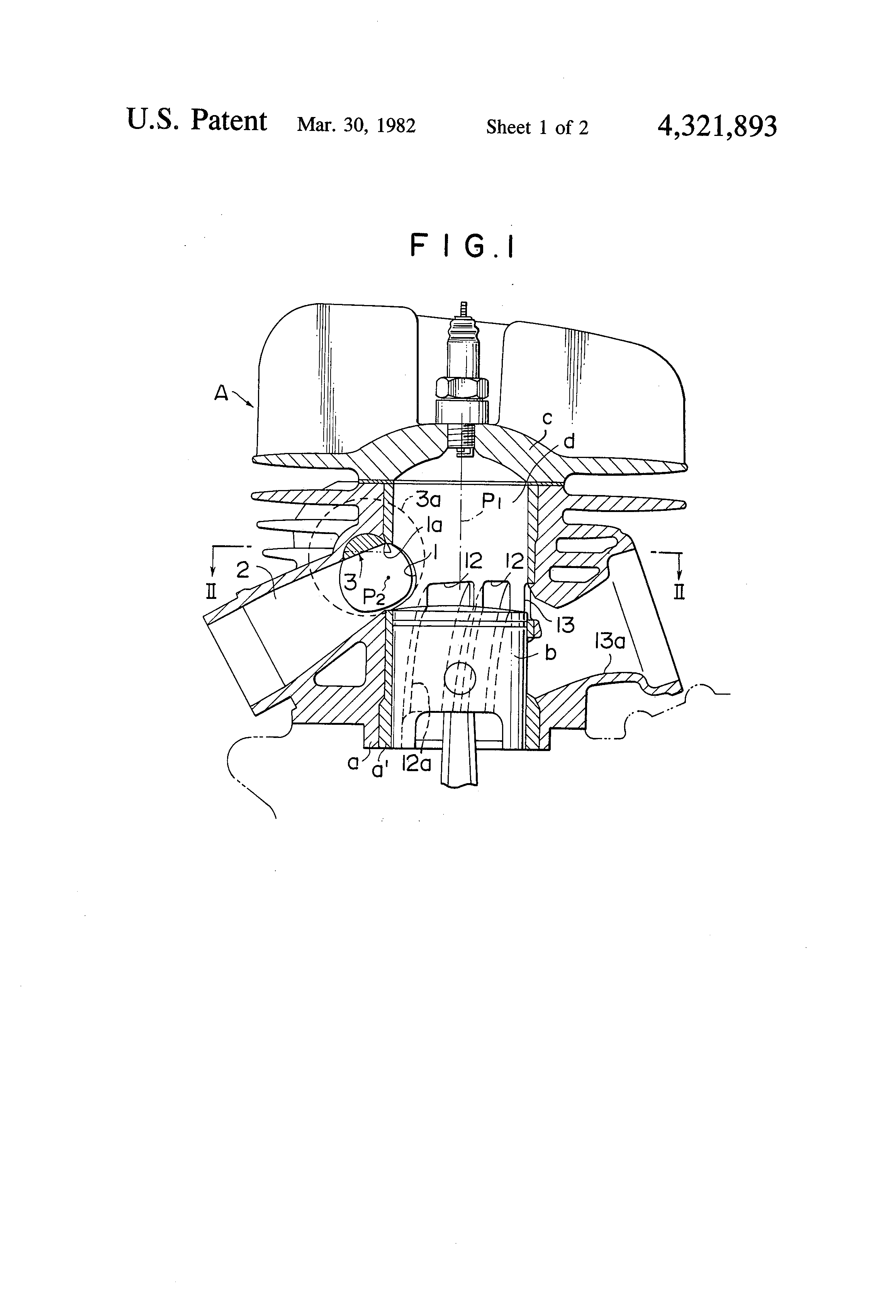 patent us4321893 - two-stroke engine having variable exhaust port timing