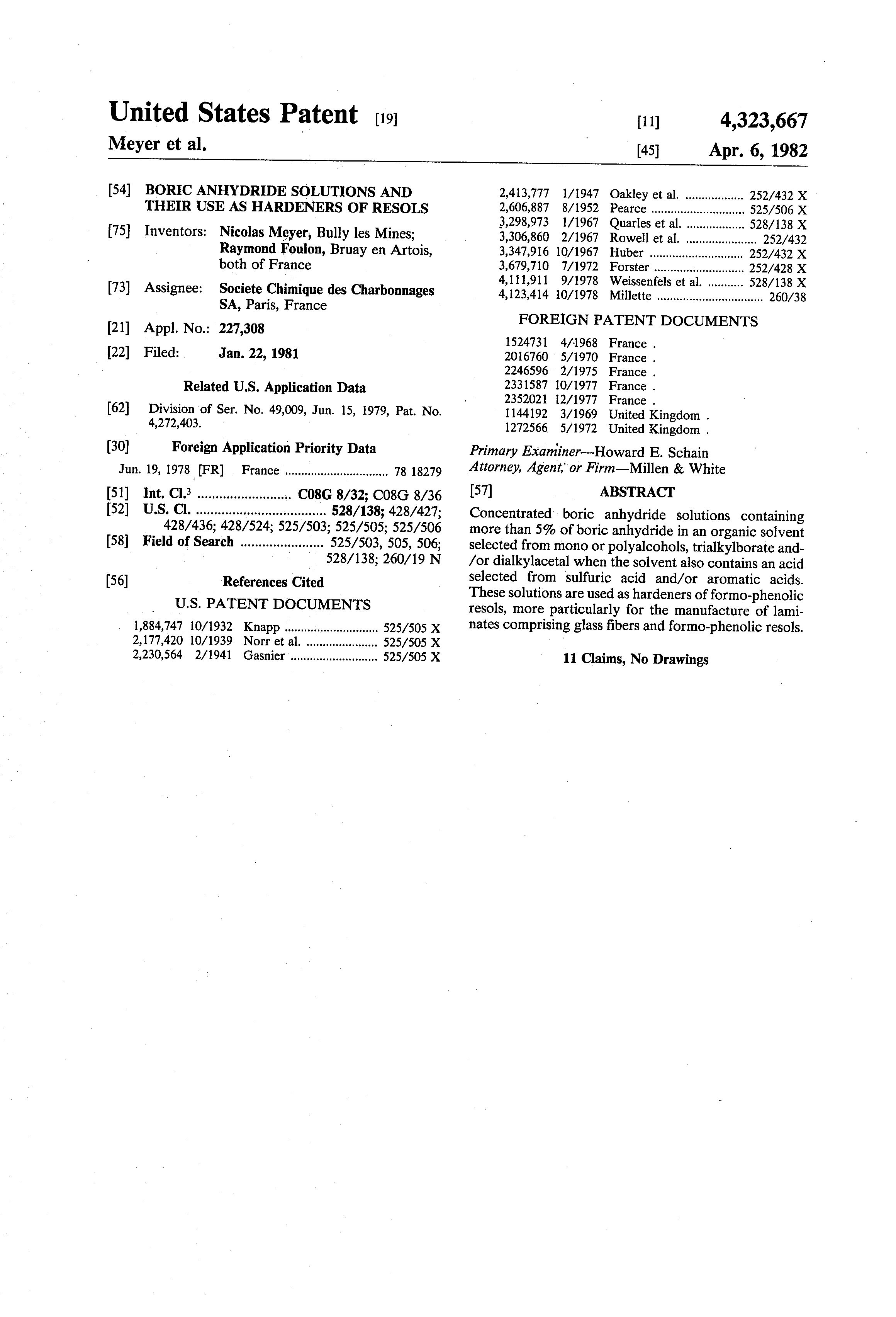 patent us boric anhydride solutions and their use as  patent drawing