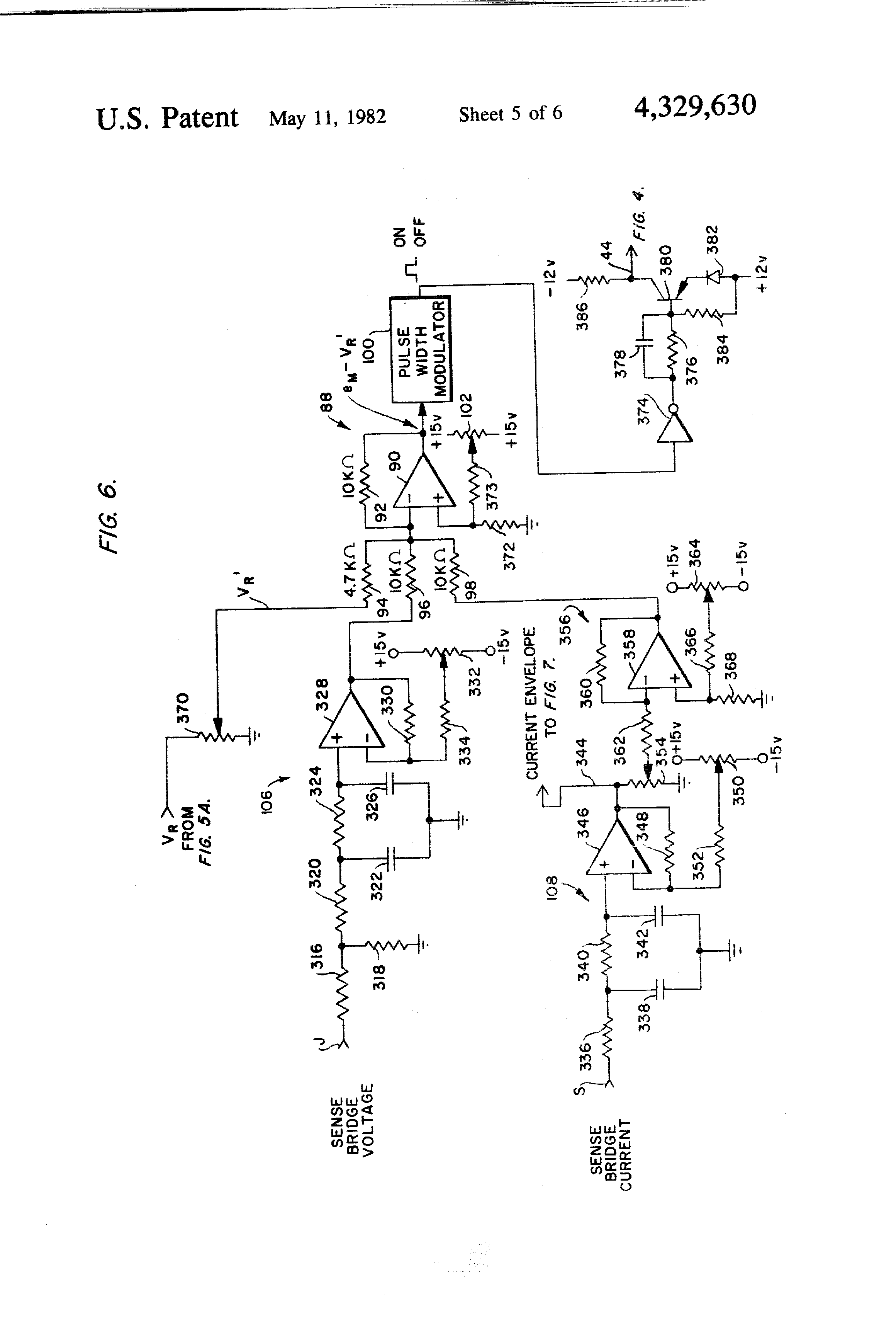 Patent US4329630 Single transistor power control circuit for a – Diehl Electric Motors Wiring Diagram