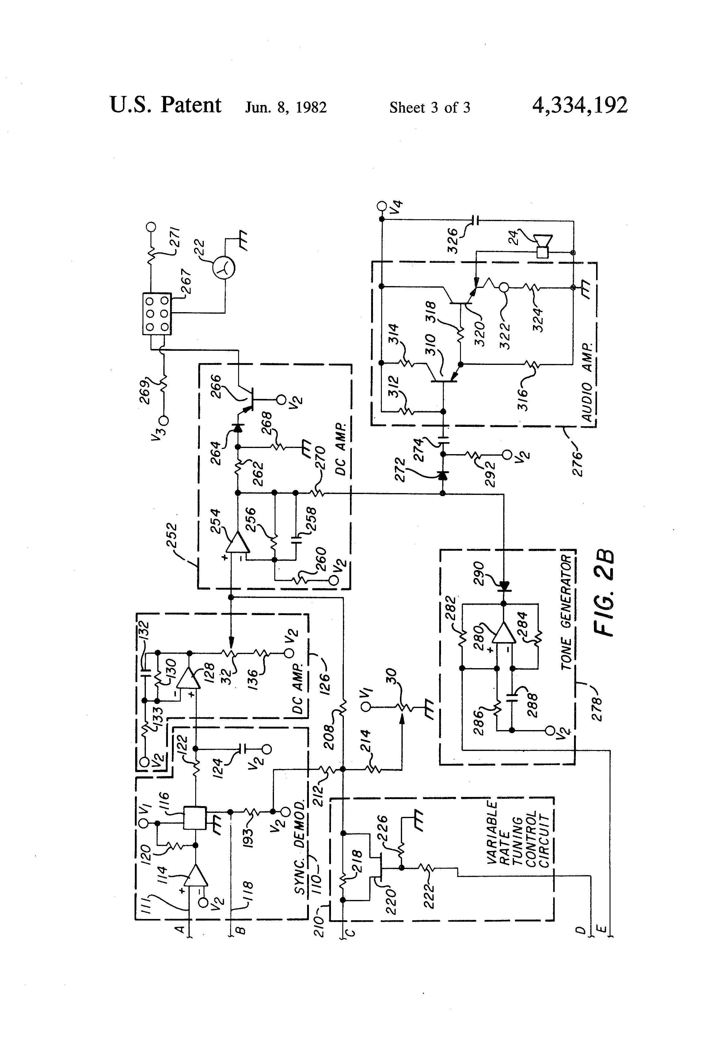 patent us4334192 - metal detector circuit having automatic tuning with multiple rates