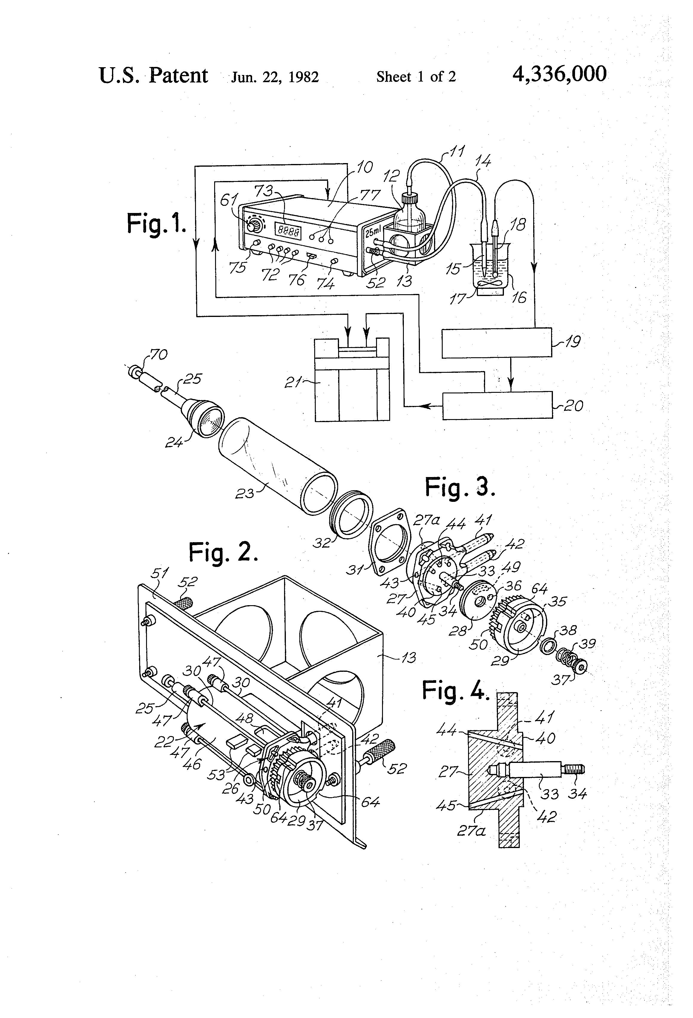 patent us4336000 liquid dosage piston pump google patents. Black Bedroom Furniture Sets. Home Design Ideas