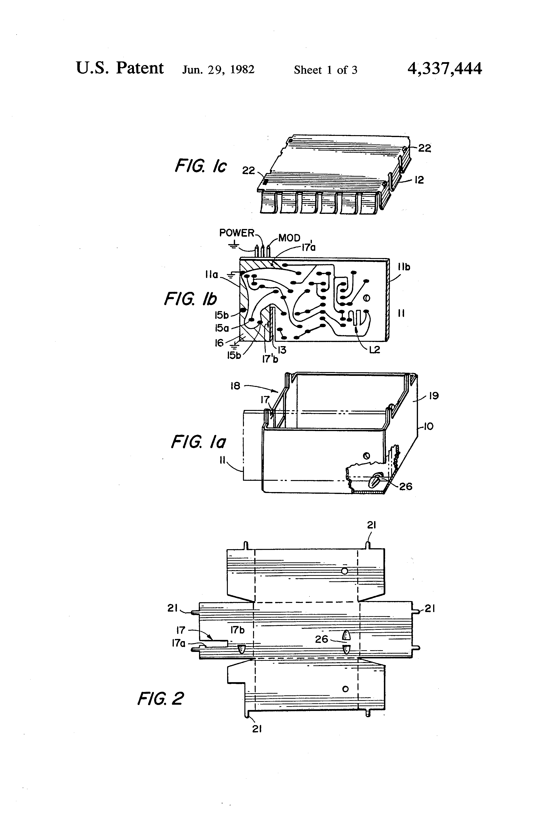 Patent Us4337444 Radio Frequency Oscillator Modulator Circuit Is Placed In The Base To Ground Drawing