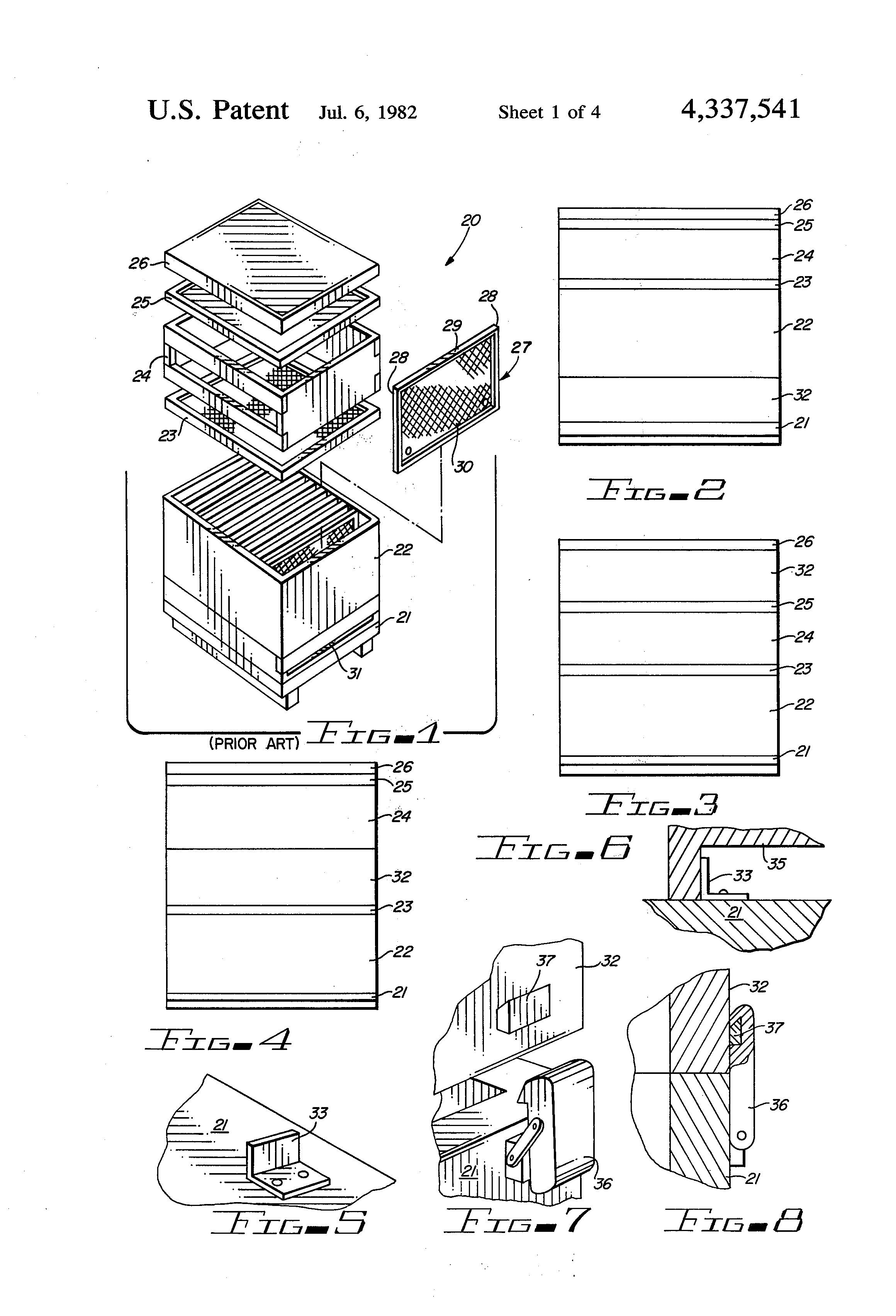 patent us4337541 - pollen trap for beehives