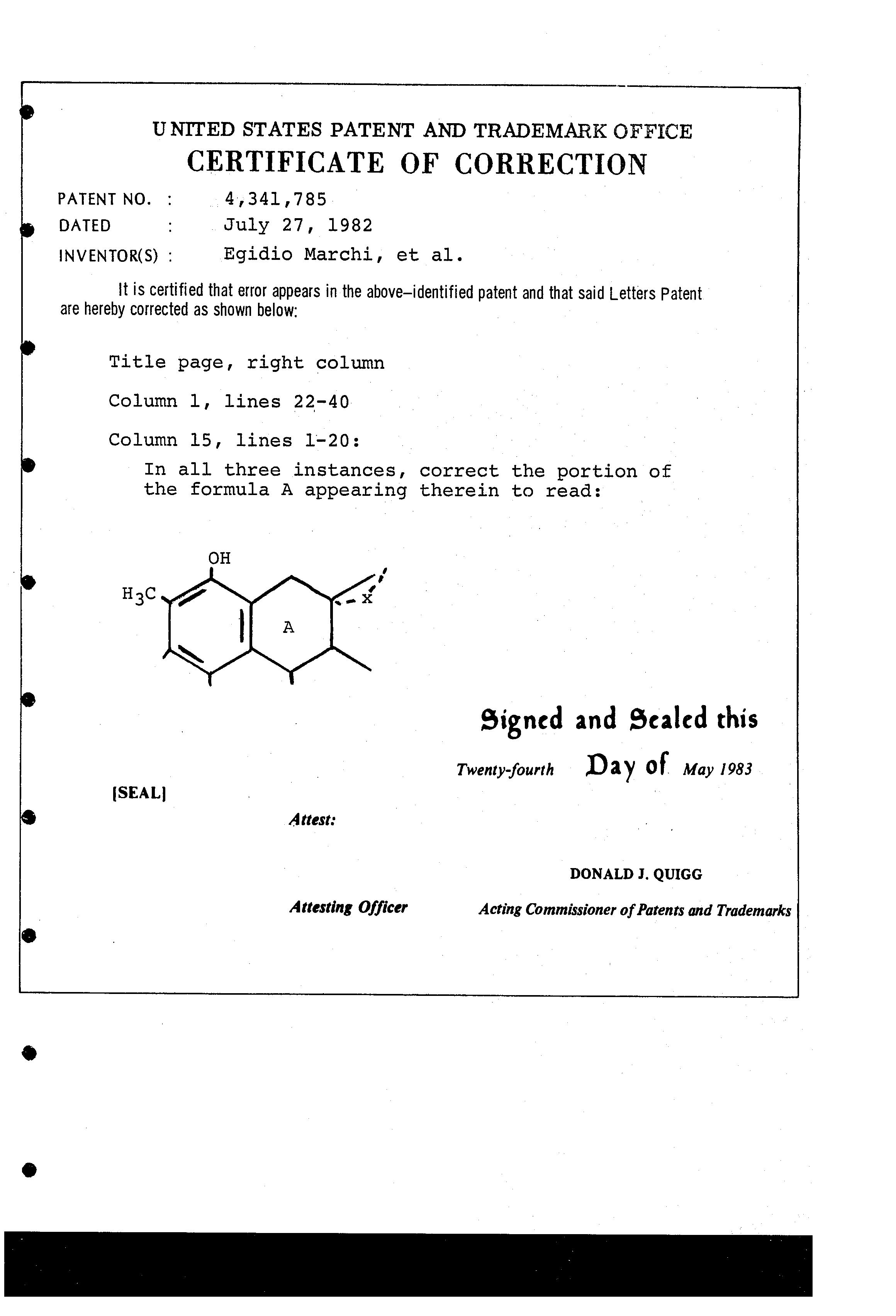 Patent US4341785 - Imidazo-rifamycin derivatives with ...