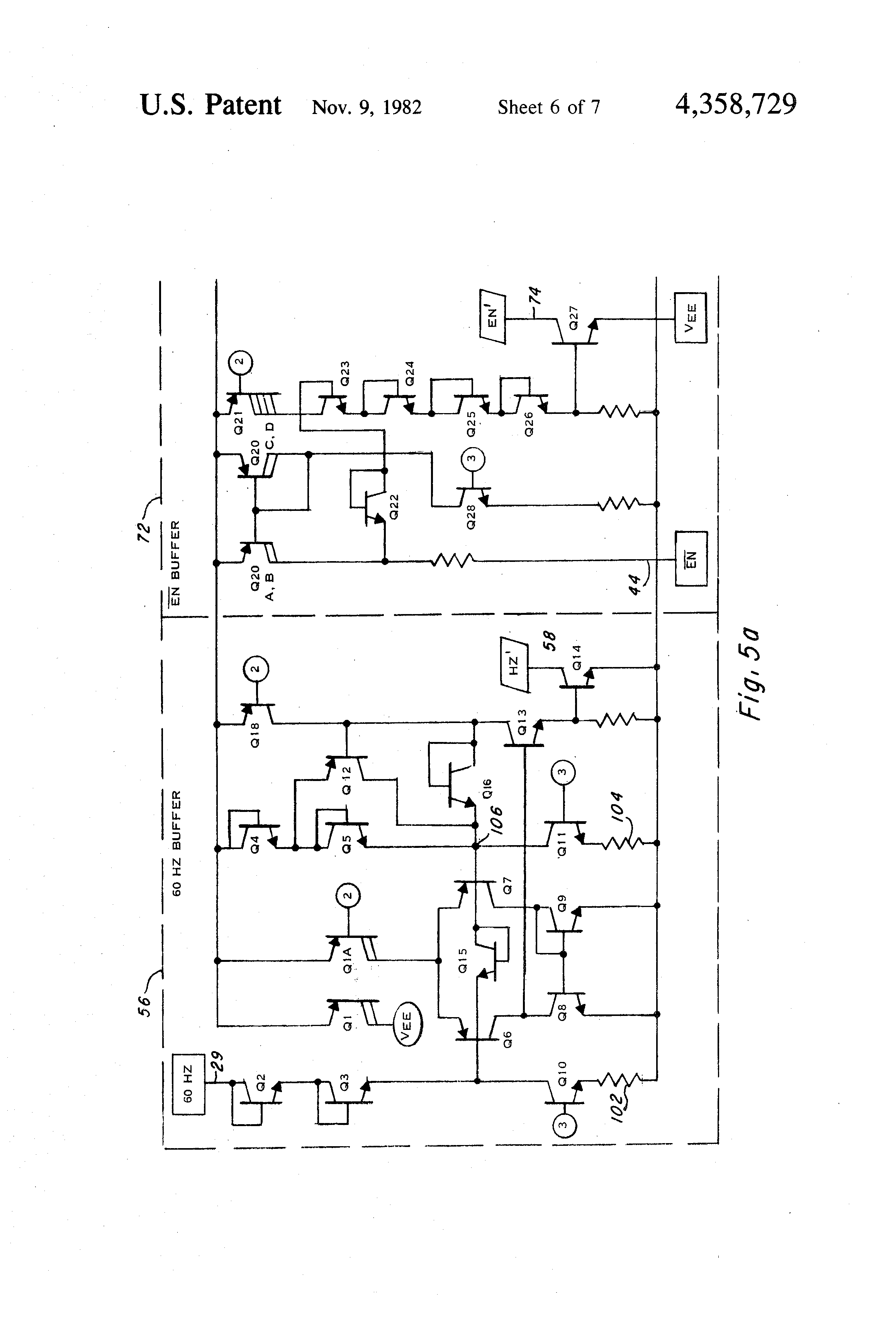 Patent Us4358729 Thyristor Driver Controller For Reactive Loads Of Complete Circuit Diagram Firing Angle Control Triac Drawing