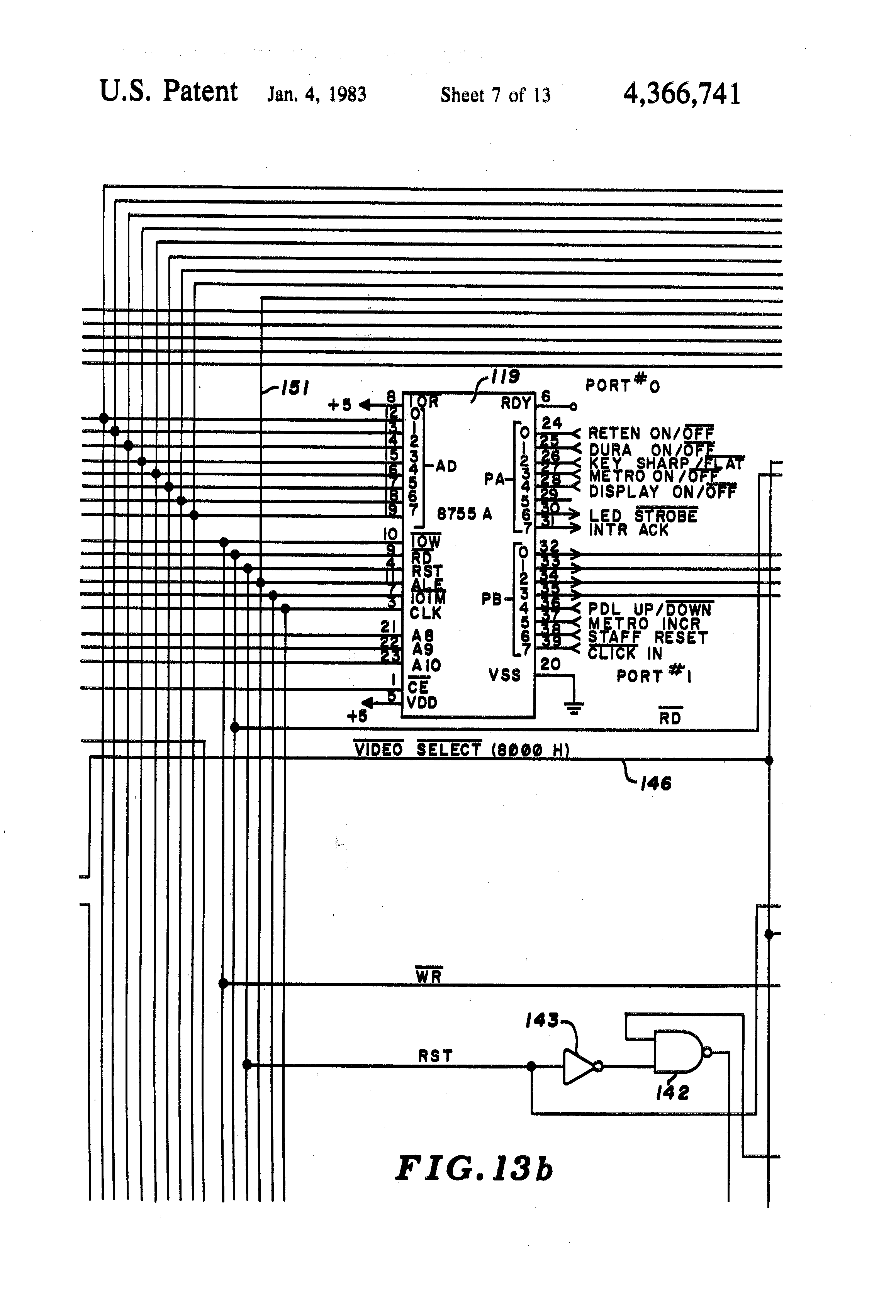 Patent Us4366741 Method And Apparatus For Displaying Musical Audio Indicator By 741 Drawing