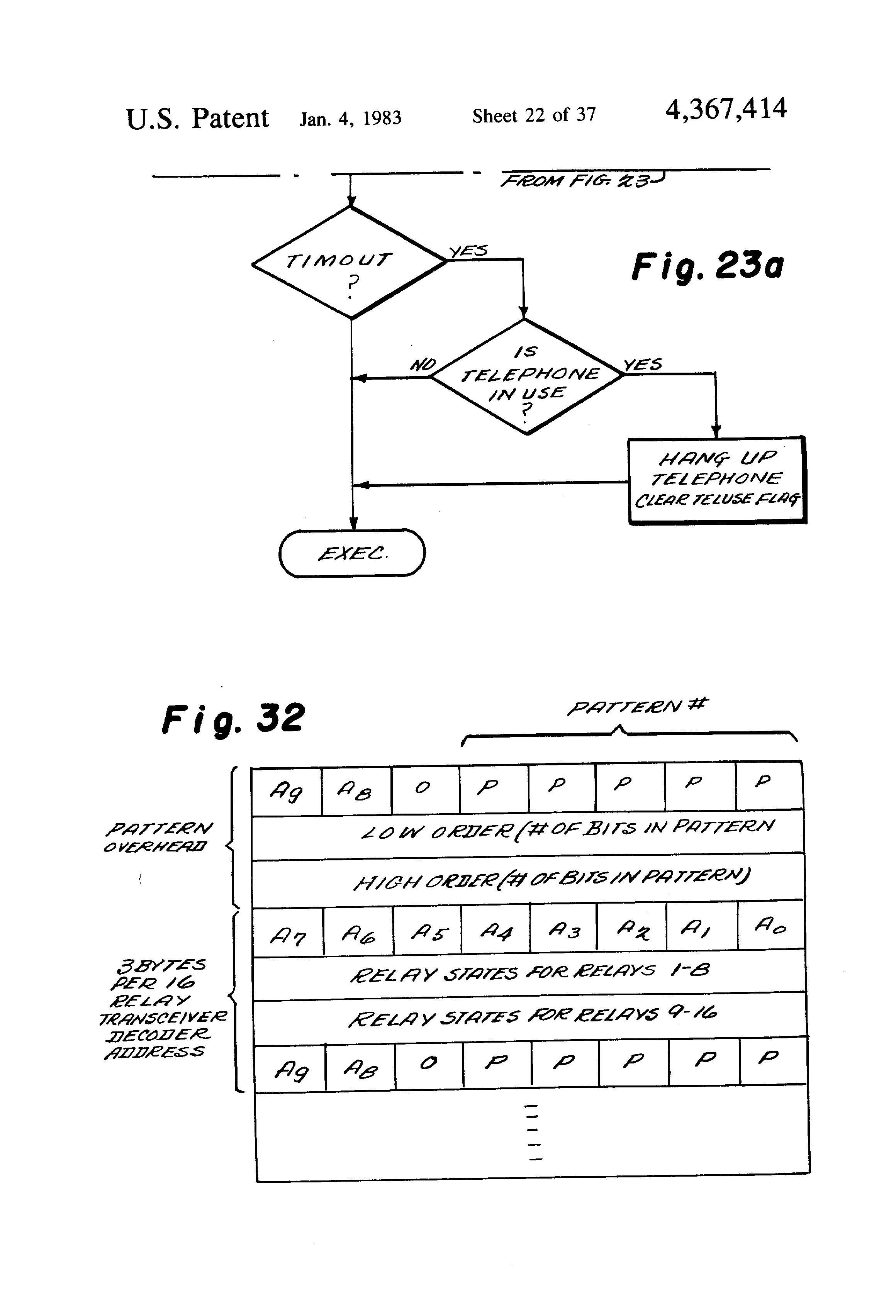 Patent Us4367414 Method And Apparatus For Controlling Distributed Reed Switch Wiring With Relays Moreover Latching Relay Circuit Diagram Drawing