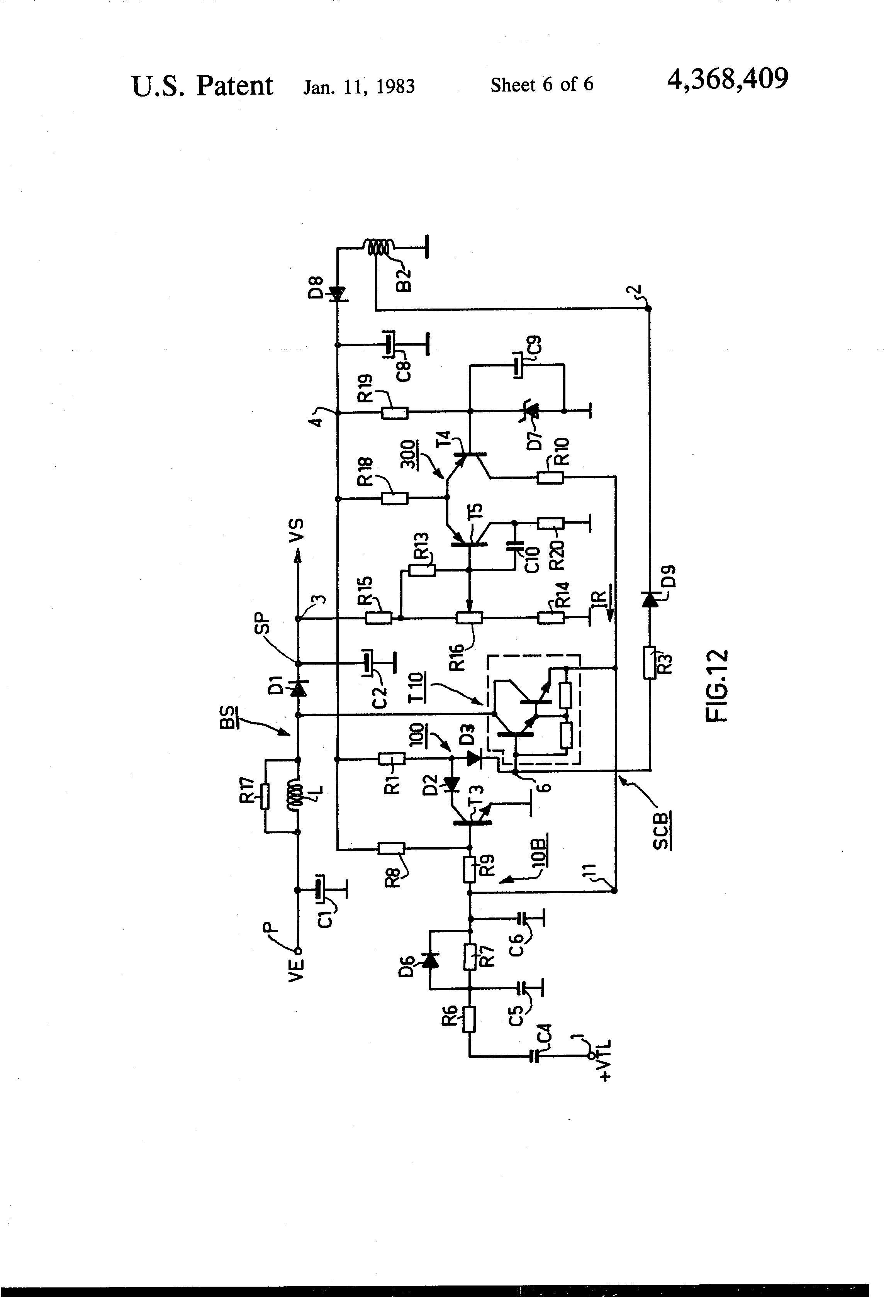 Patent Us4368409 Switching Regulator Power Supply Device Combined Rc Circuitsresistor And Capacitor In Series Drawing
