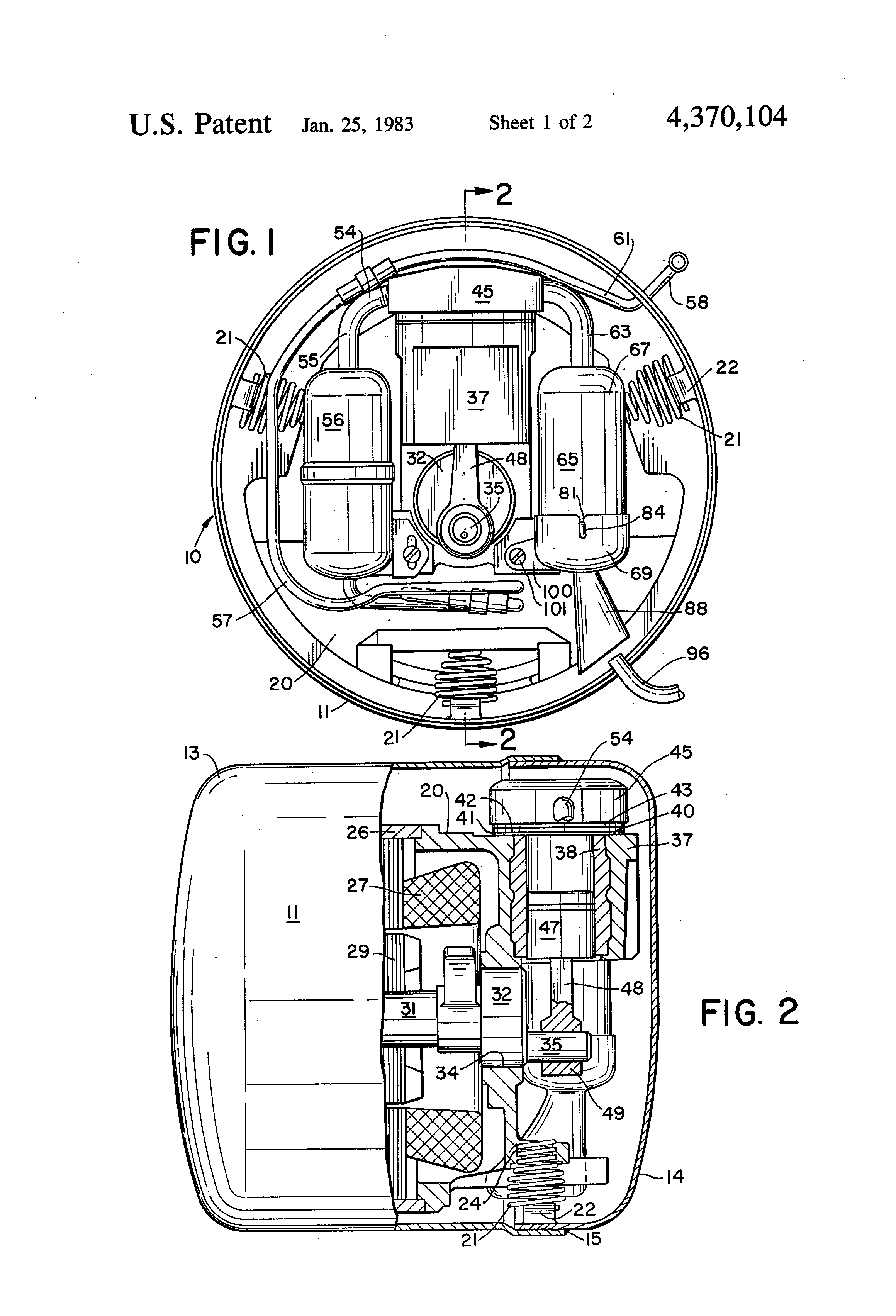 patent us4370104 suction muffler for refrigeration compressor