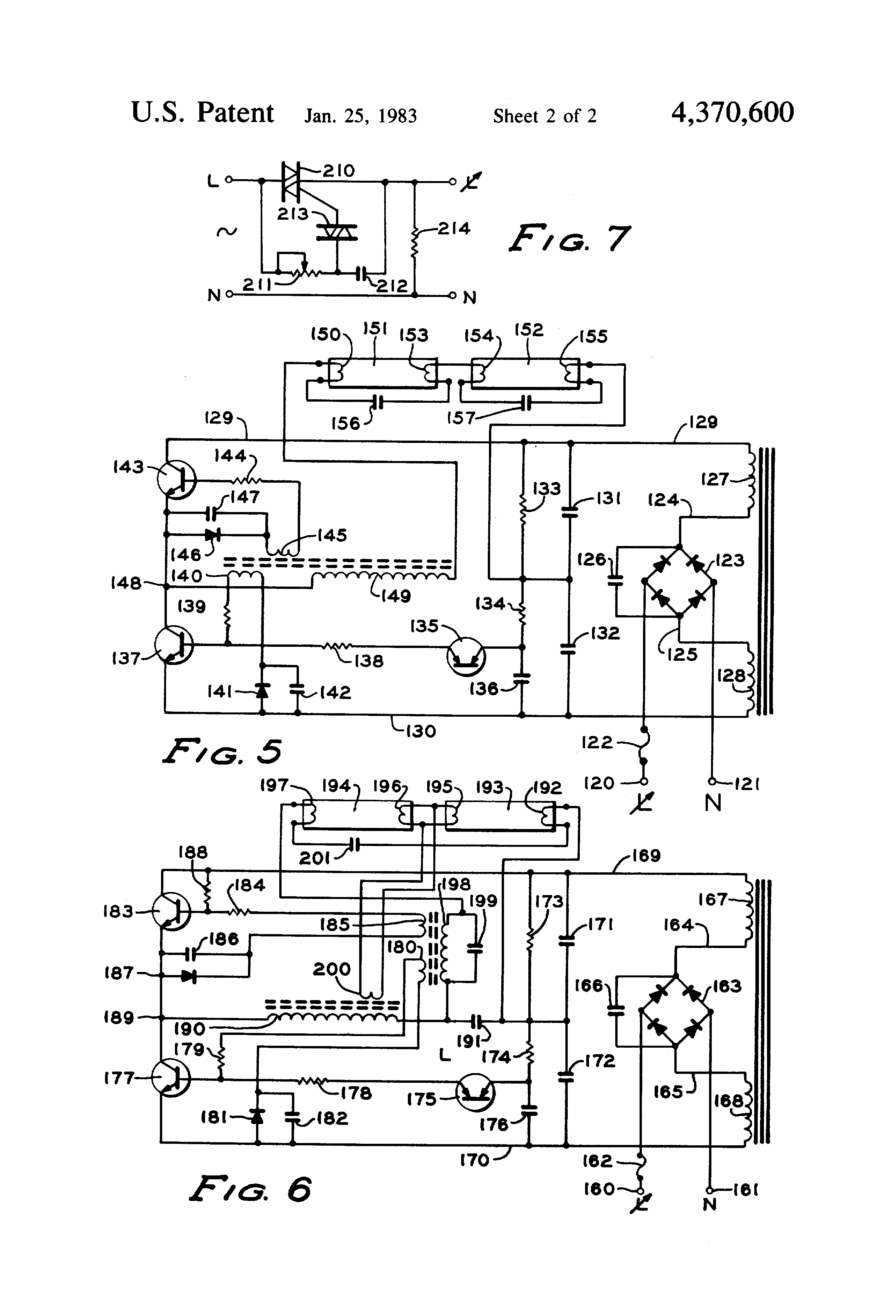 US4370600 2 patent us4370600 two wire electronic dimming ballast for dimming ballast wiring diagram at bayanpartner.co