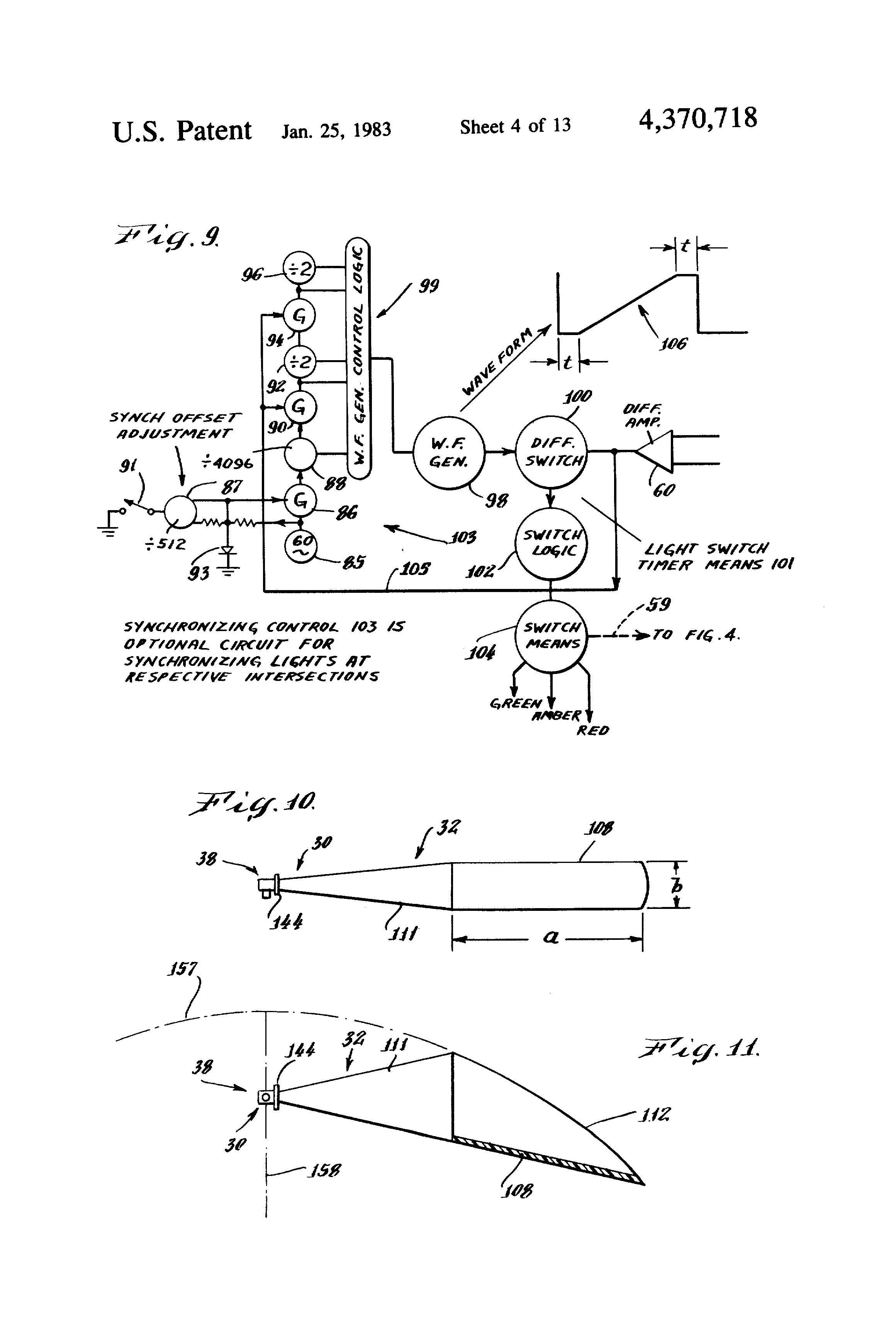US4370718 4 patent us4370718 responsive traffic light control system and asv rc 50 wiring diagram at bakdesigns.co