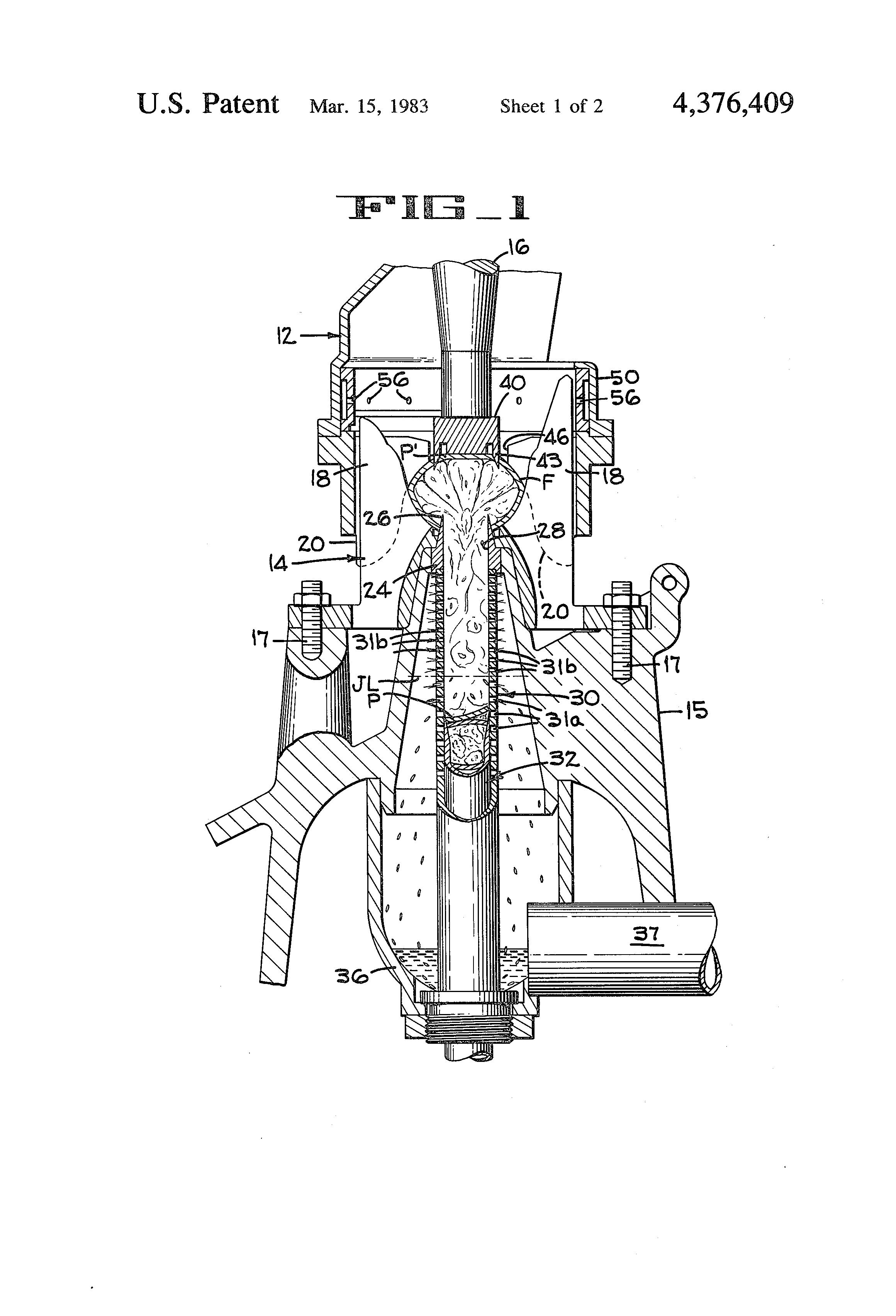 Patent Us4376409 Citrus Fruit Juice Extractor Google Patents Process Flow Diagram Orange Drawing