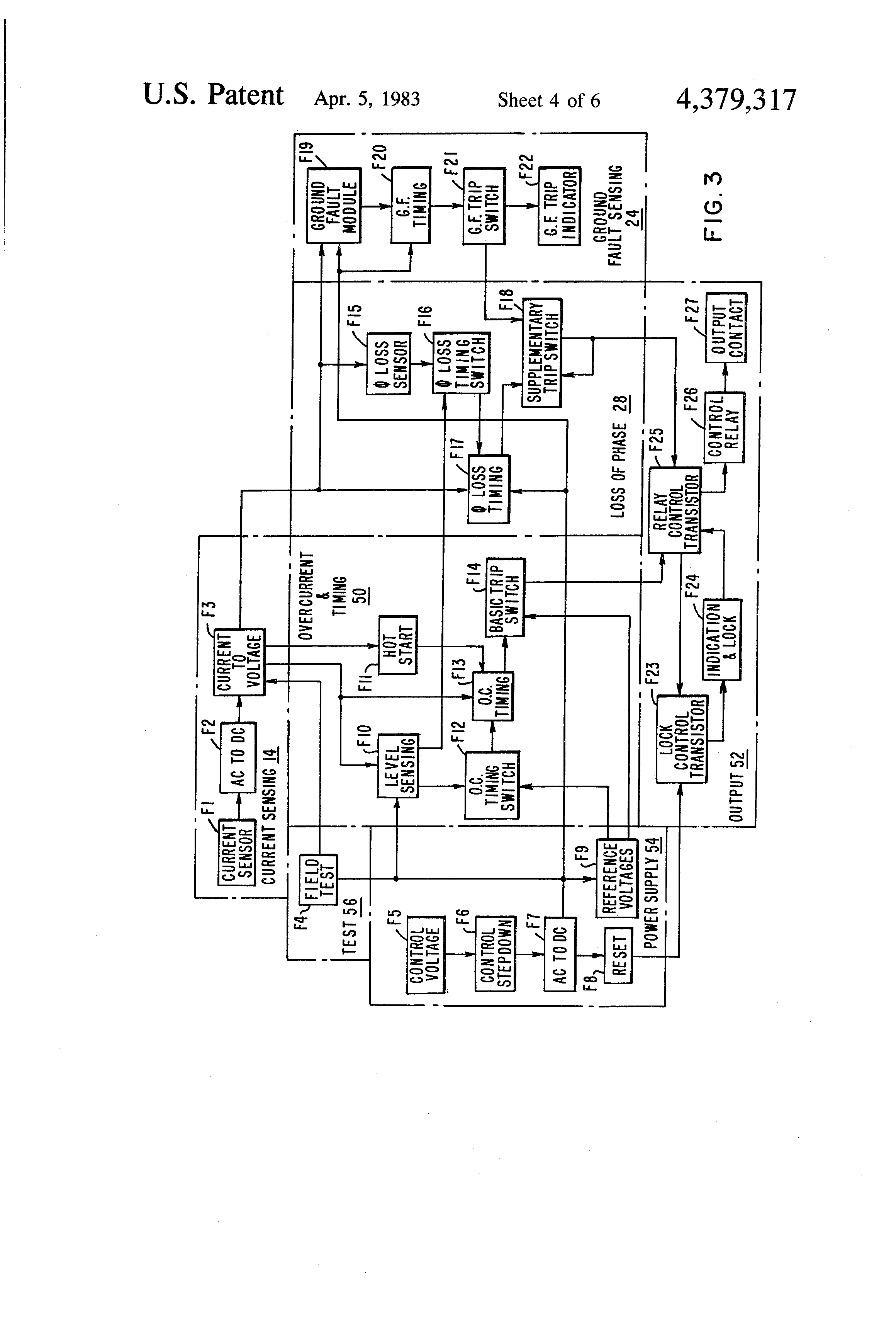 Patente Us4379317 Solid State Load Protection System Having Loss Ssac Alternating Relay Wiring Diagram Patent Drawing