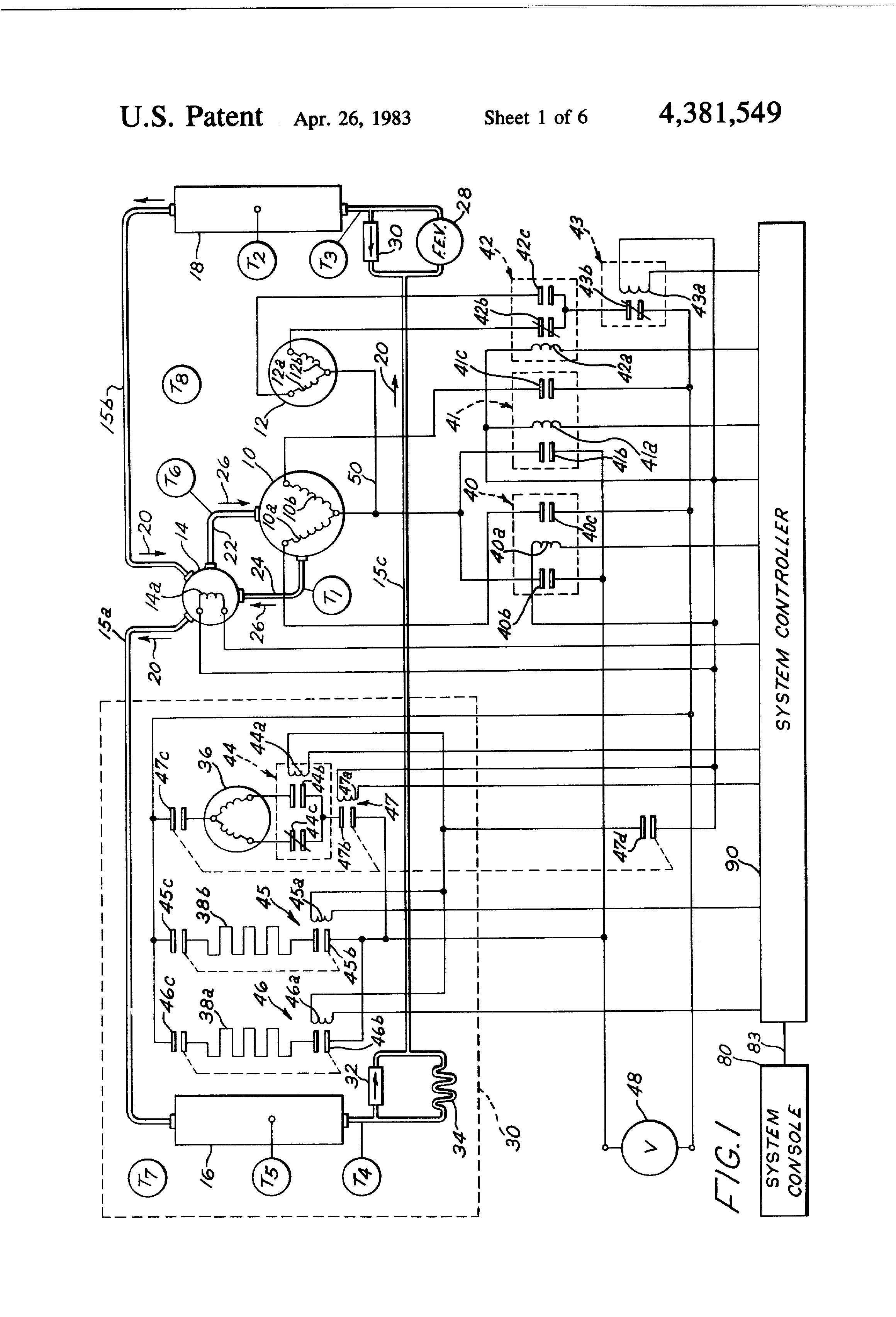 patent us4381549 automatic fault diagnostic apparatus for a heat patent drawing