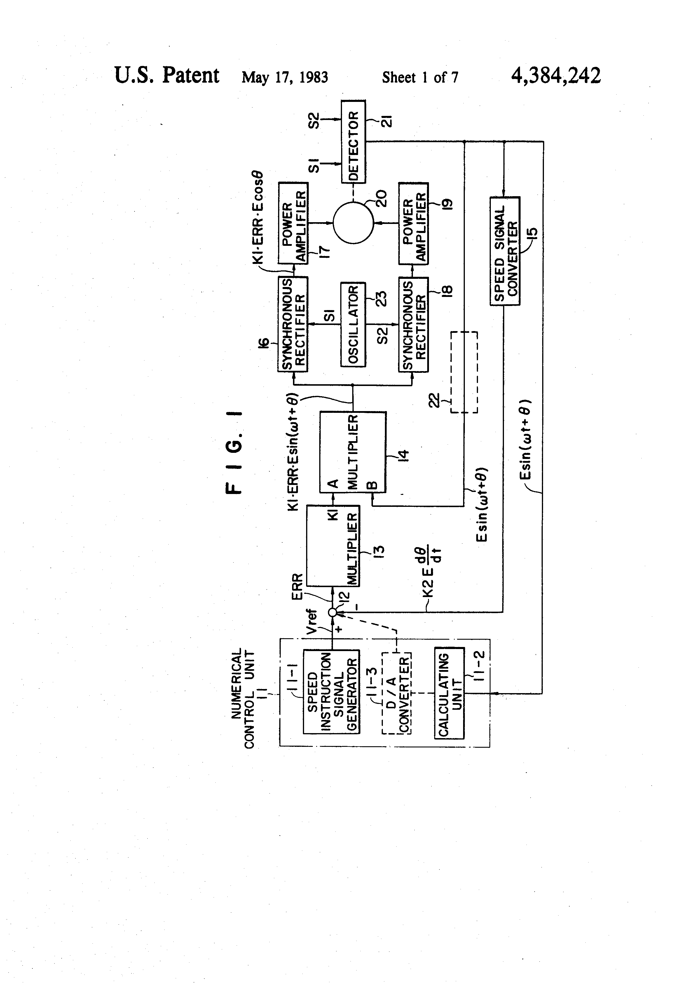 Patent Us4384242 Speed Control Systems Of Synchronous