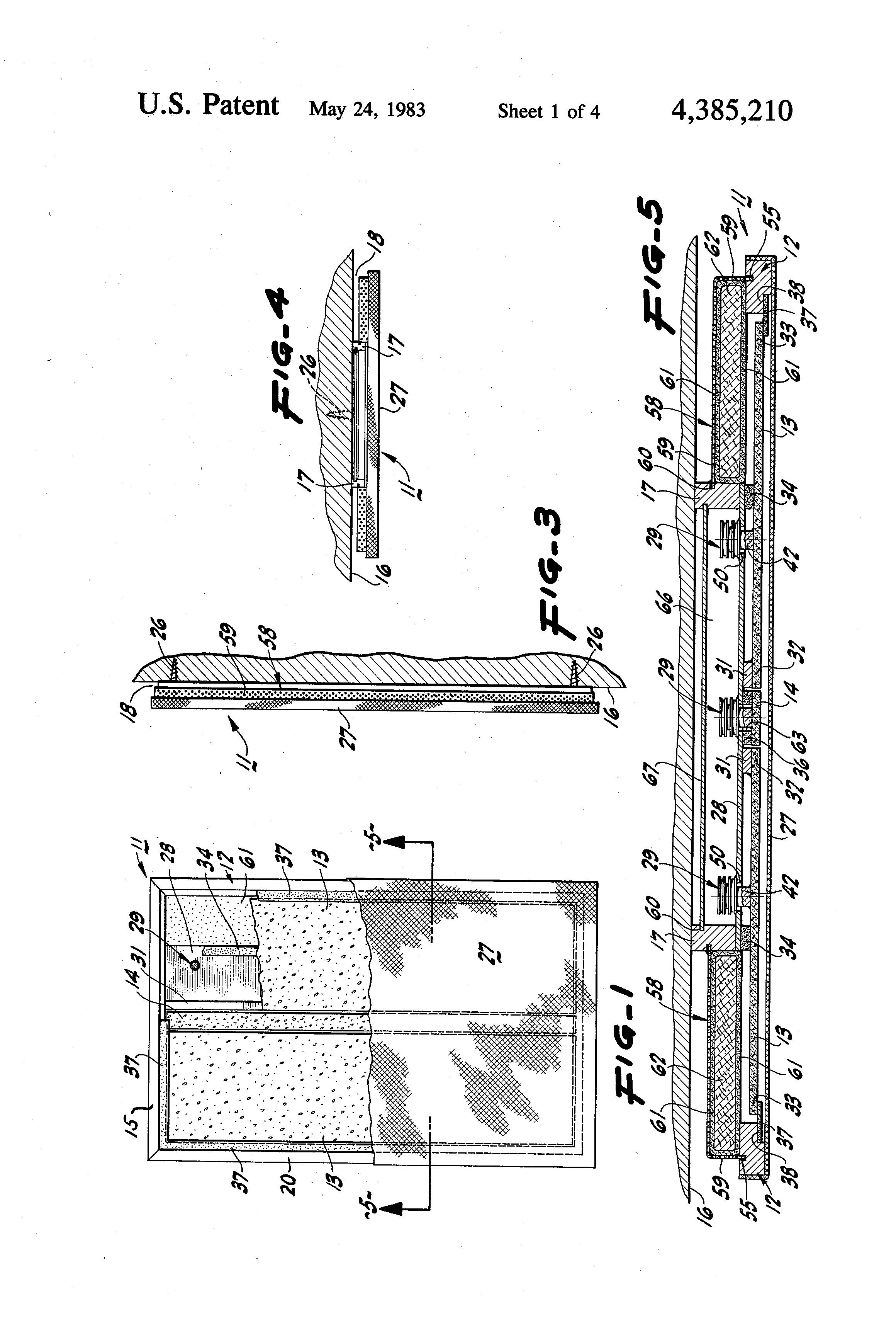 patent us4385210 - electro-acoustic planar transducer