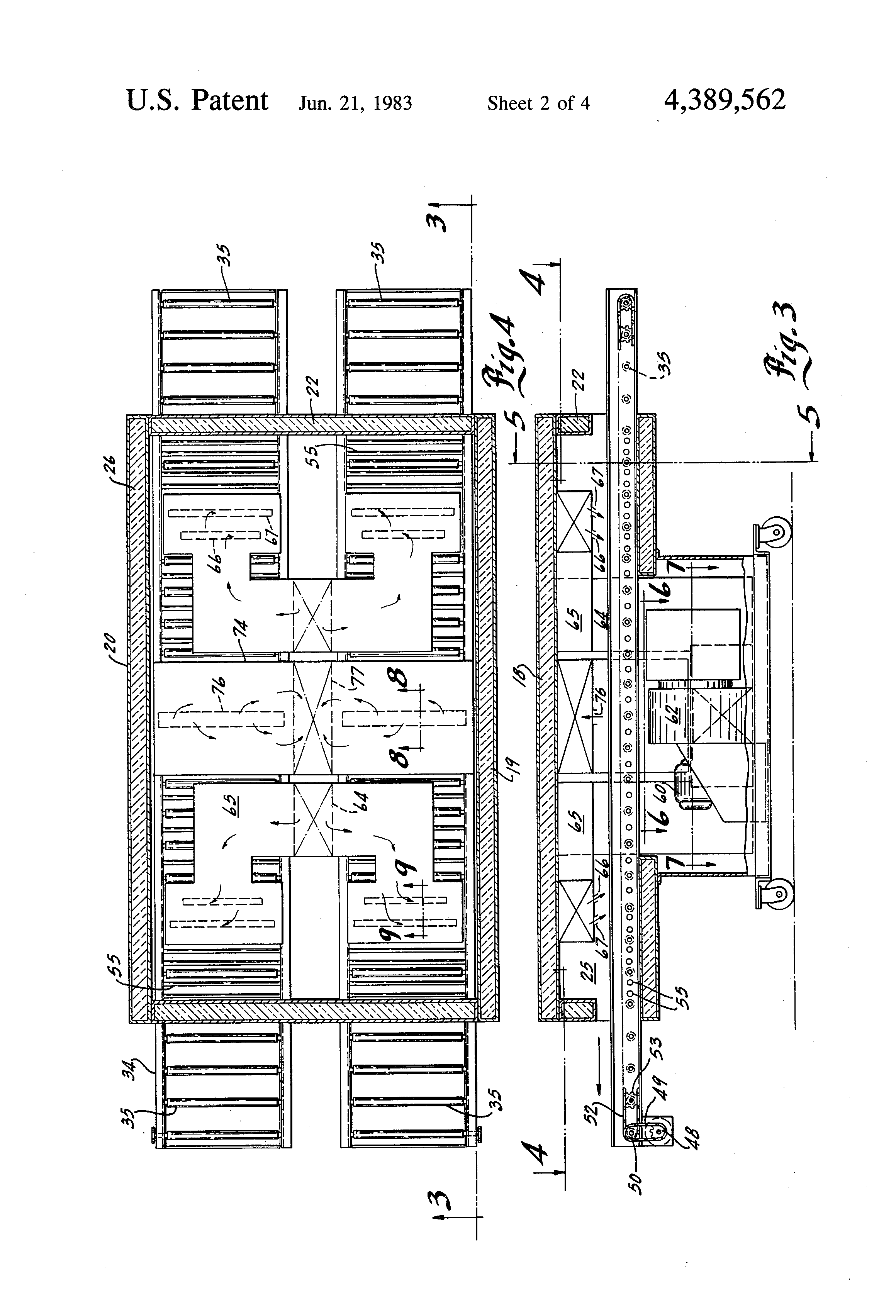 patent us4389562 - conveyor oven