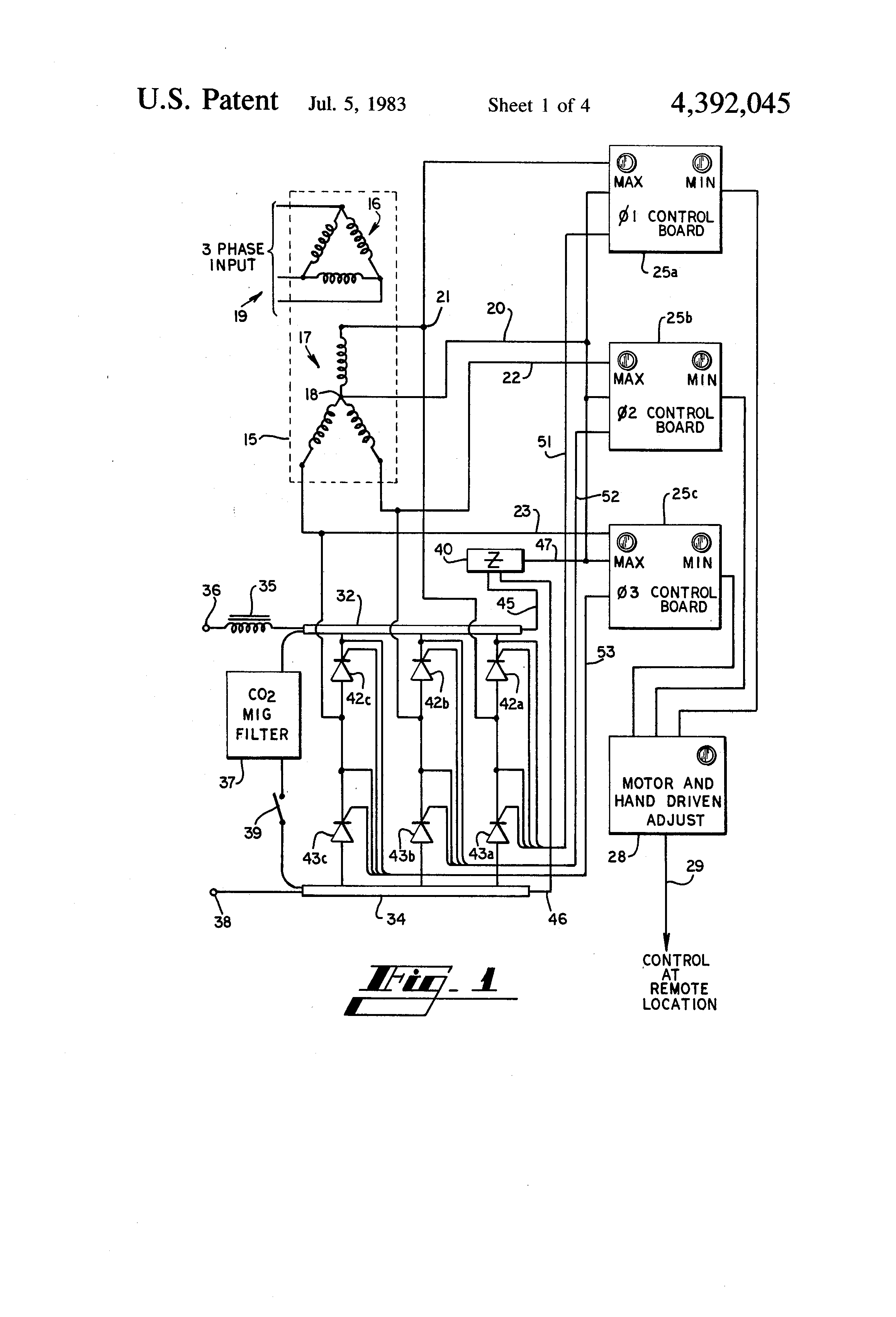 patent us4392045 - thyristor controlled welding power supply
