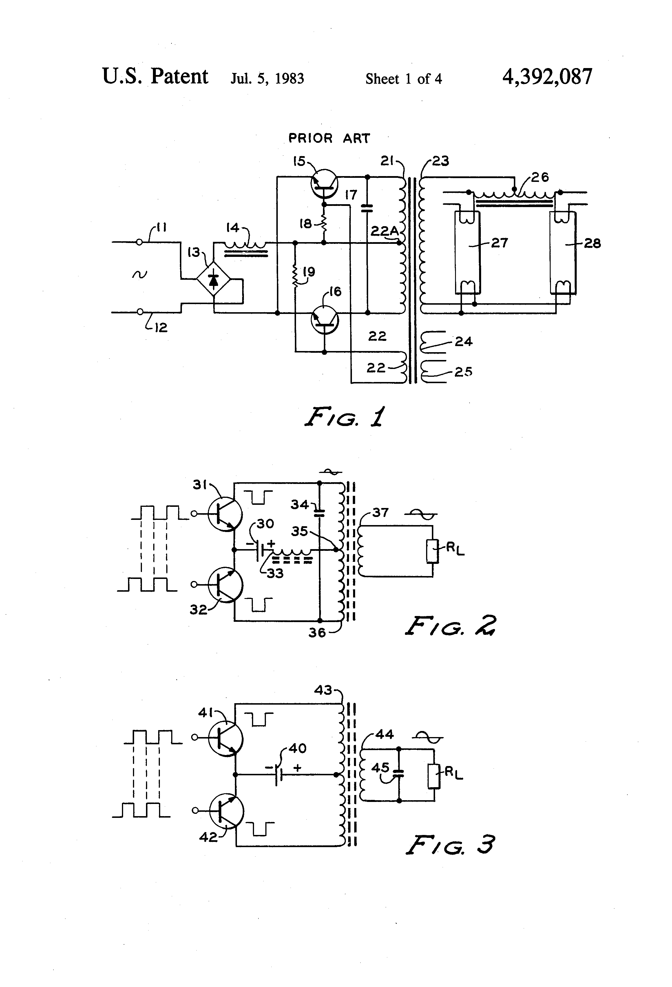 US4392087 1 patent us4392087 two wire electronic dimming ballast for gaseous helvar ballast wiring diagram at soozxer.org