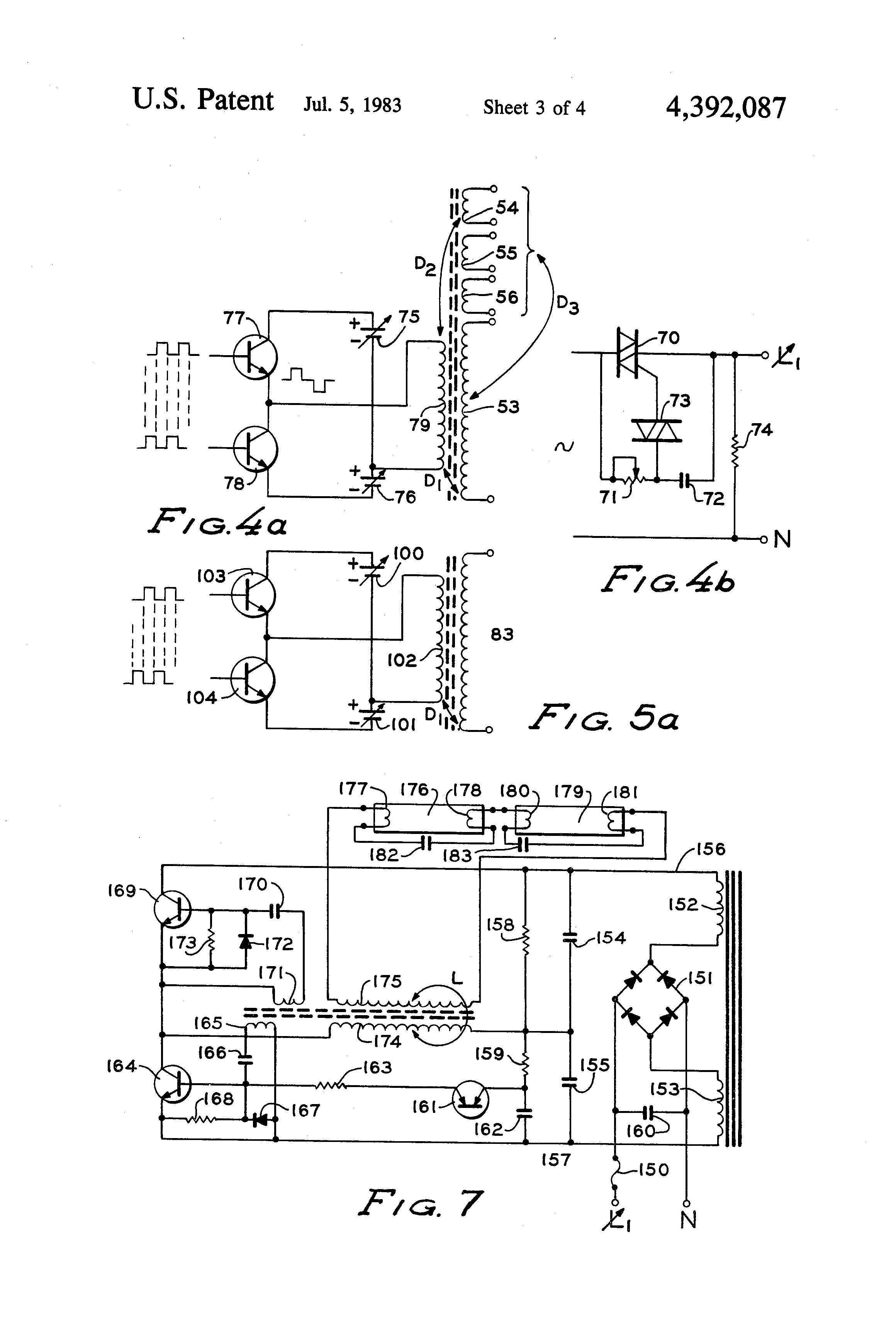 Patent Us4392087 Two Wire Electronic Dimming Ballast For Gaseous Avtech Wiring Solutions Ltd Drawing
