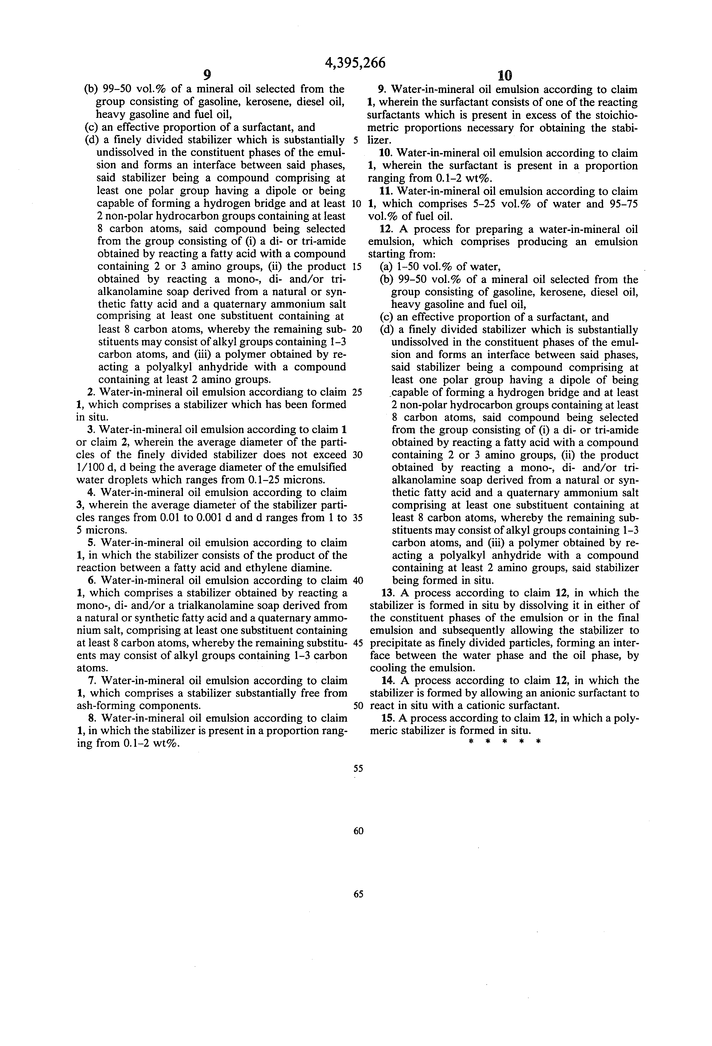 patent us stabilized water in mineral oil emulsion  patent drawing