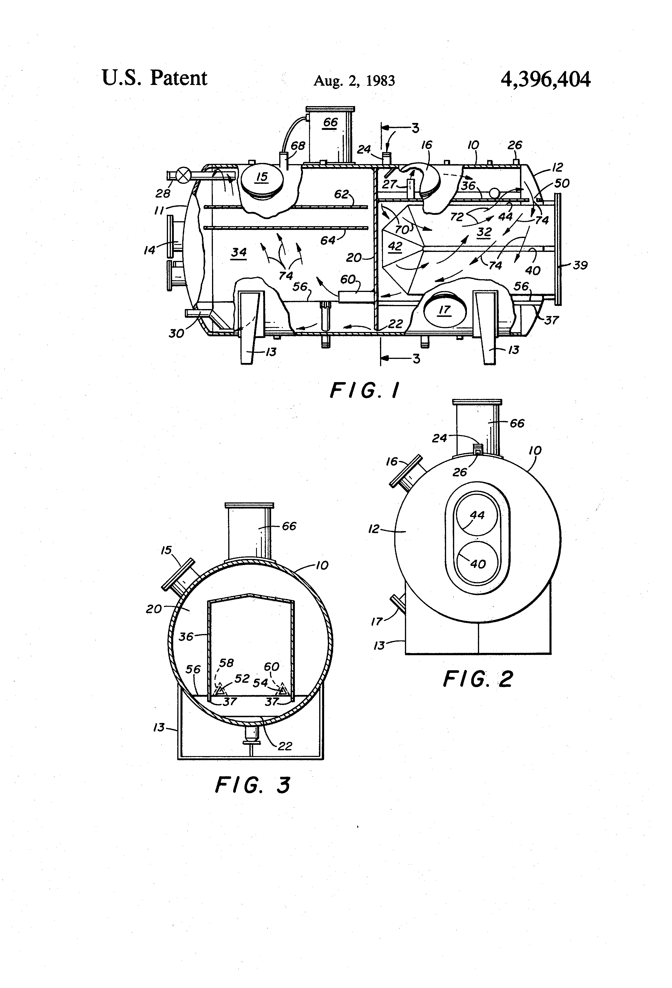 patent us4396404 - flow control for oil  gas  water separation
