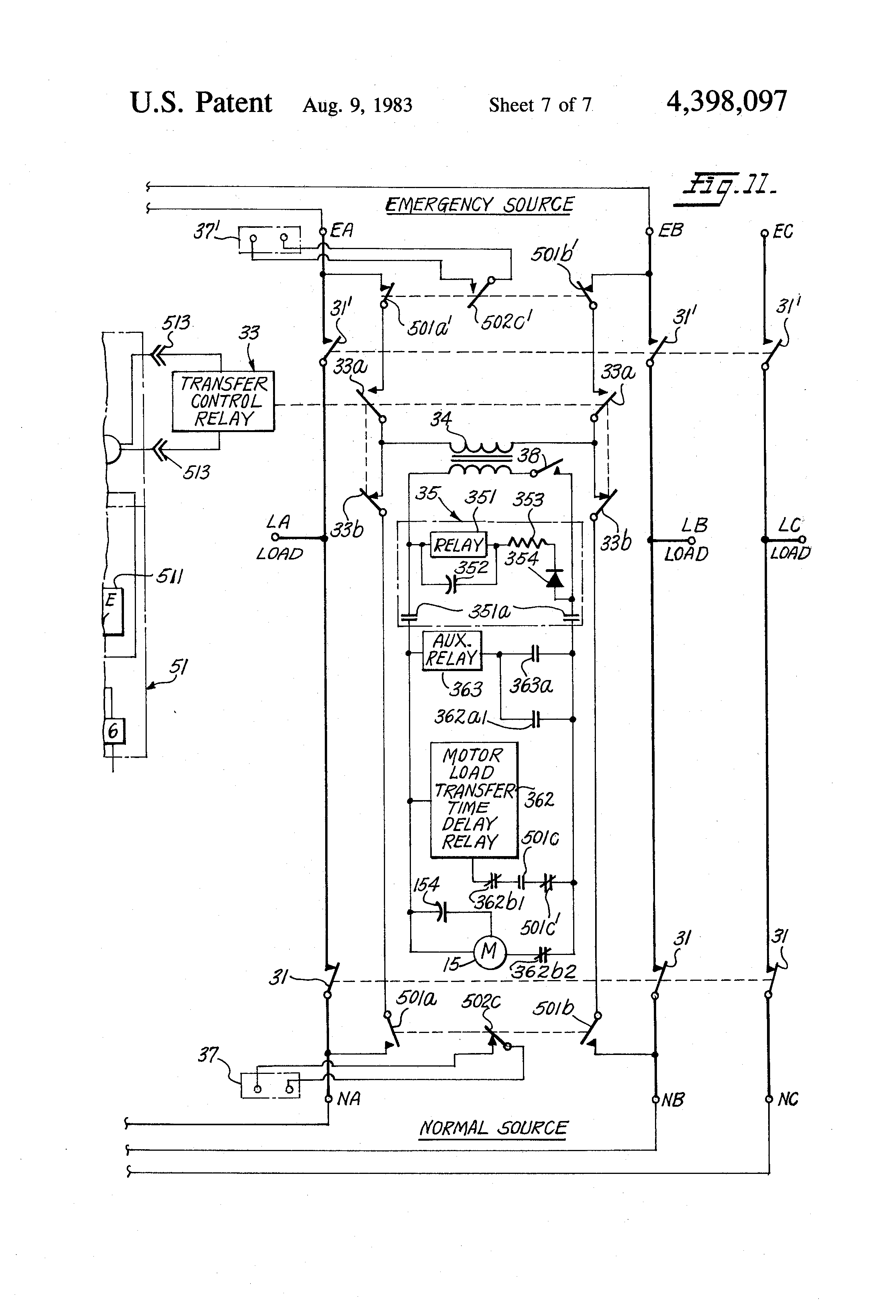 US4398097 7 patent us4398097 automatic transfer switch google patents electroswitch series 31 wiring diagram at nearapp.co