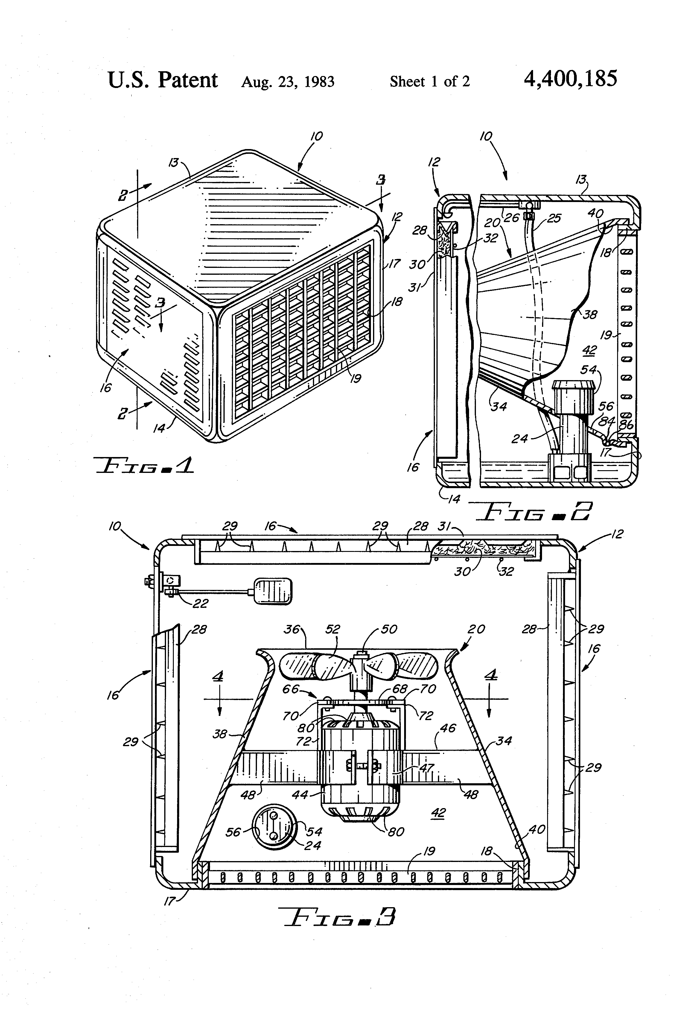 Air Handling Evaporative Cooling : Patent us evaporative cooler with improved air