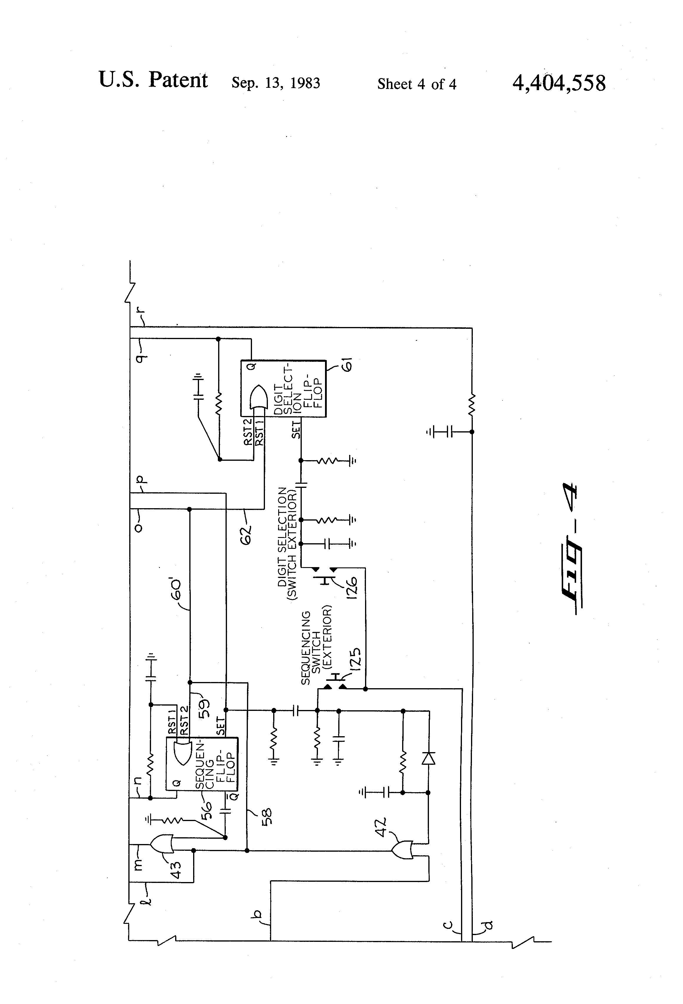 US4404558 4 patent us4404558 electrical control circuit for operating a telectron rd14-6 wiring diagram at creativeand.co