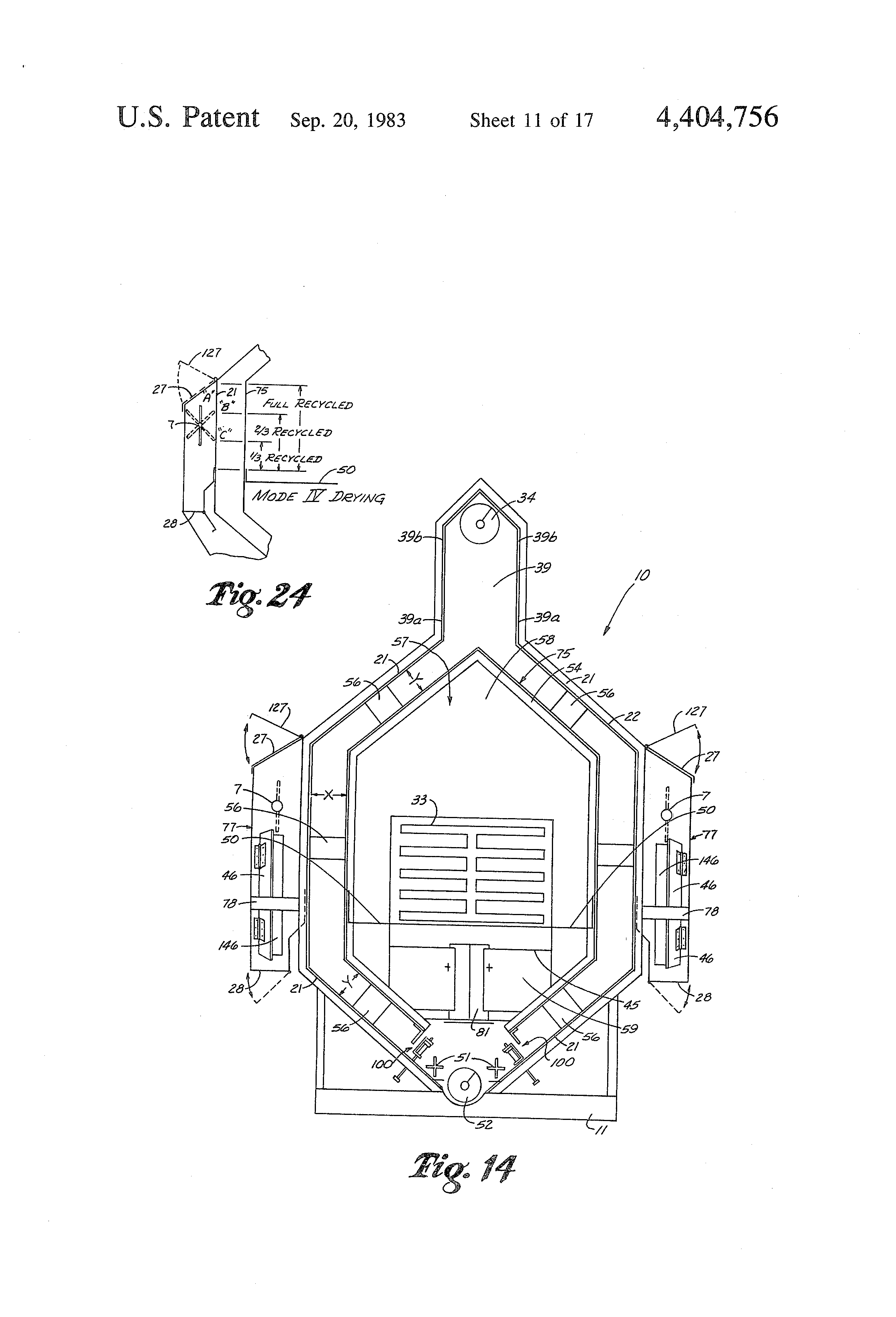 Patent Us4404756 Grain Drying And Conditioning Apparatus Google Sukup Dryer Wiring Diagram For Drawing