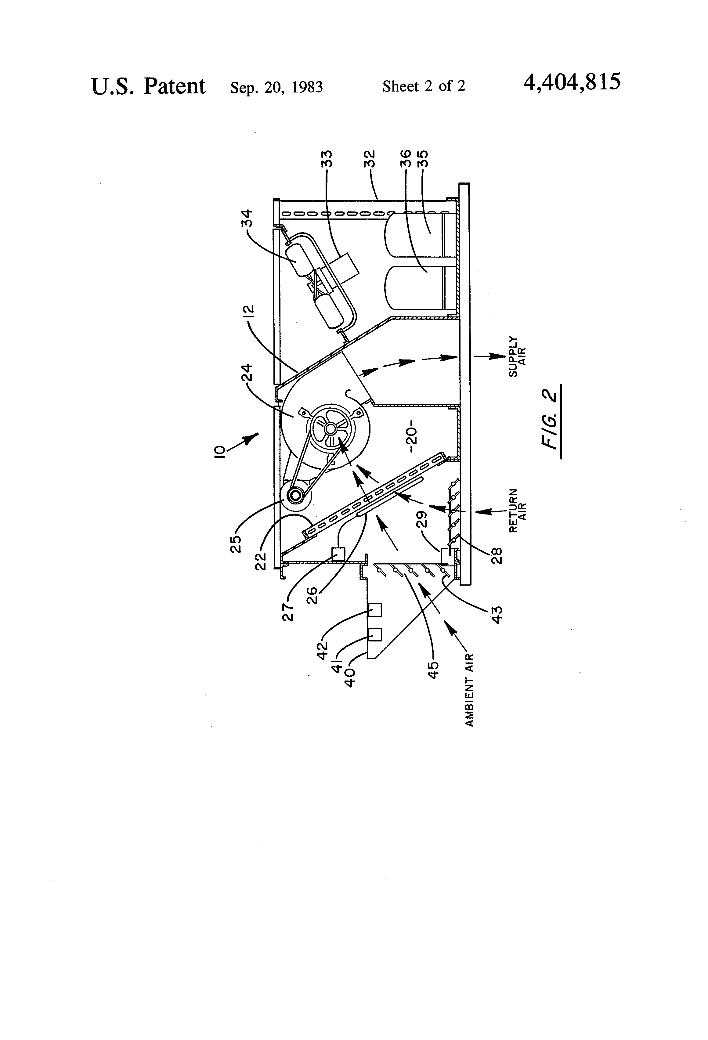 patent us4404815 air conditioning economizer control method and patent drawing