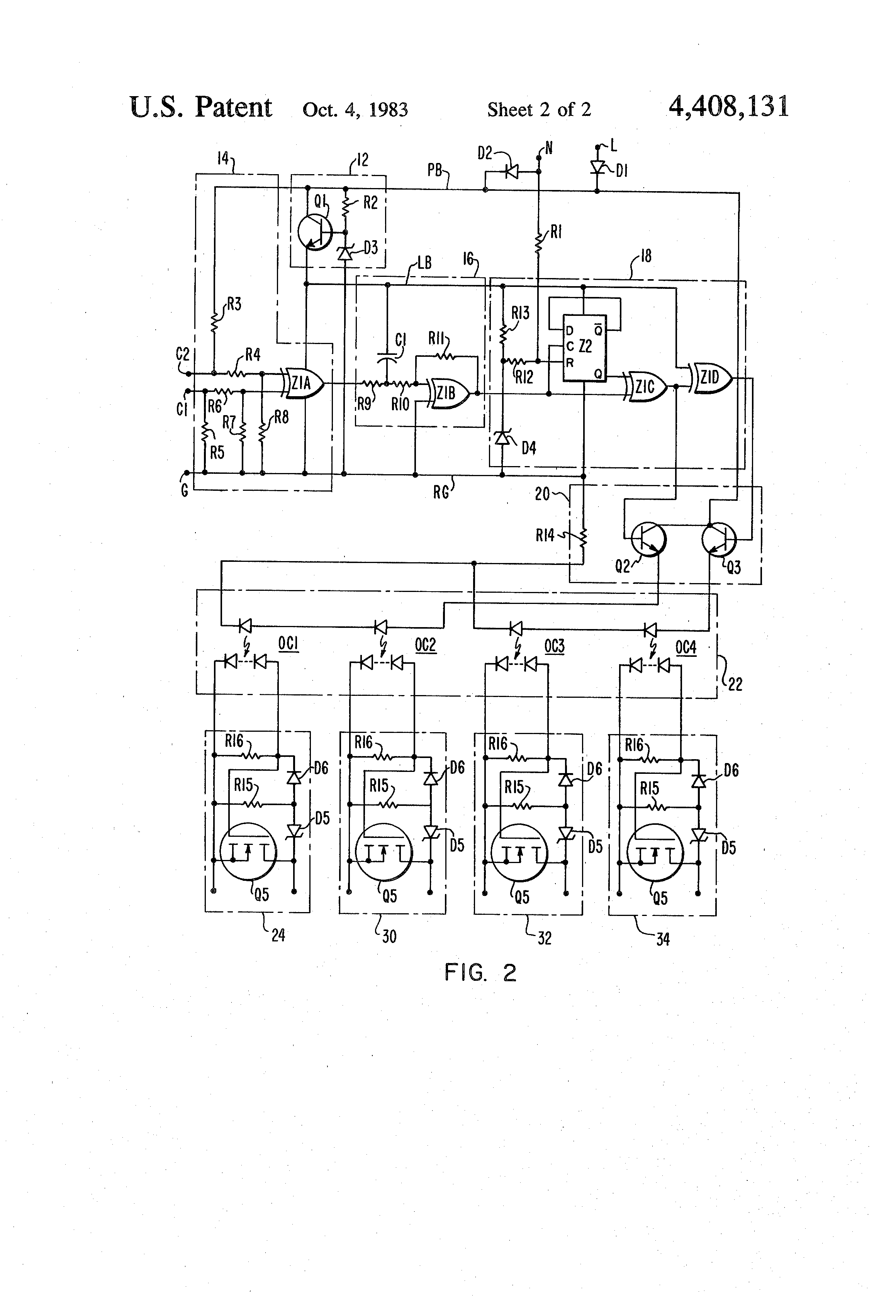 Patent Us4408131 Optically Isolated Solid State Relay Google Patents Transistors Equivalent Circuit Of A Electrical Drawing
