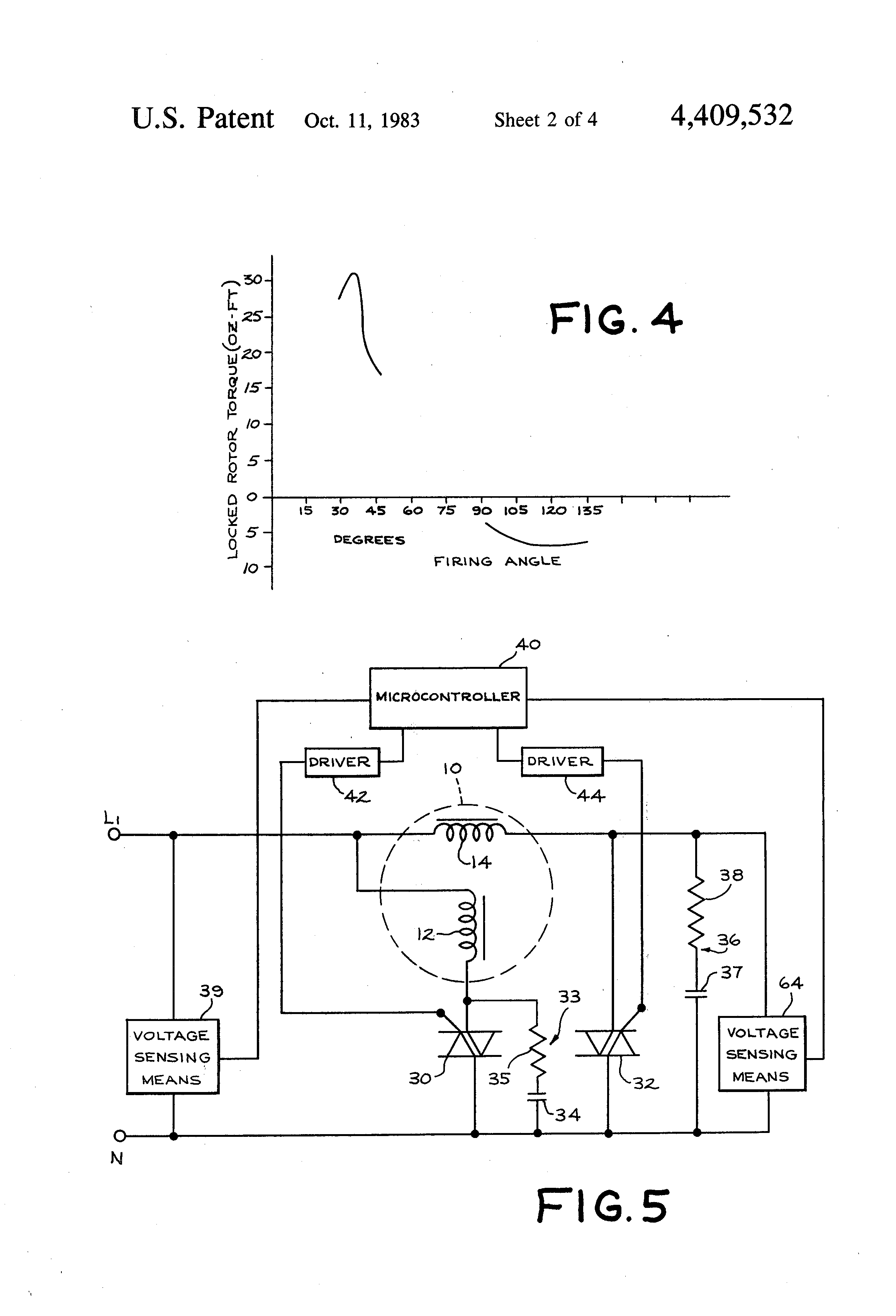 Patent US4409532 Start control arrangement for split phase – Diehl Electric Motors Wiring Diagram