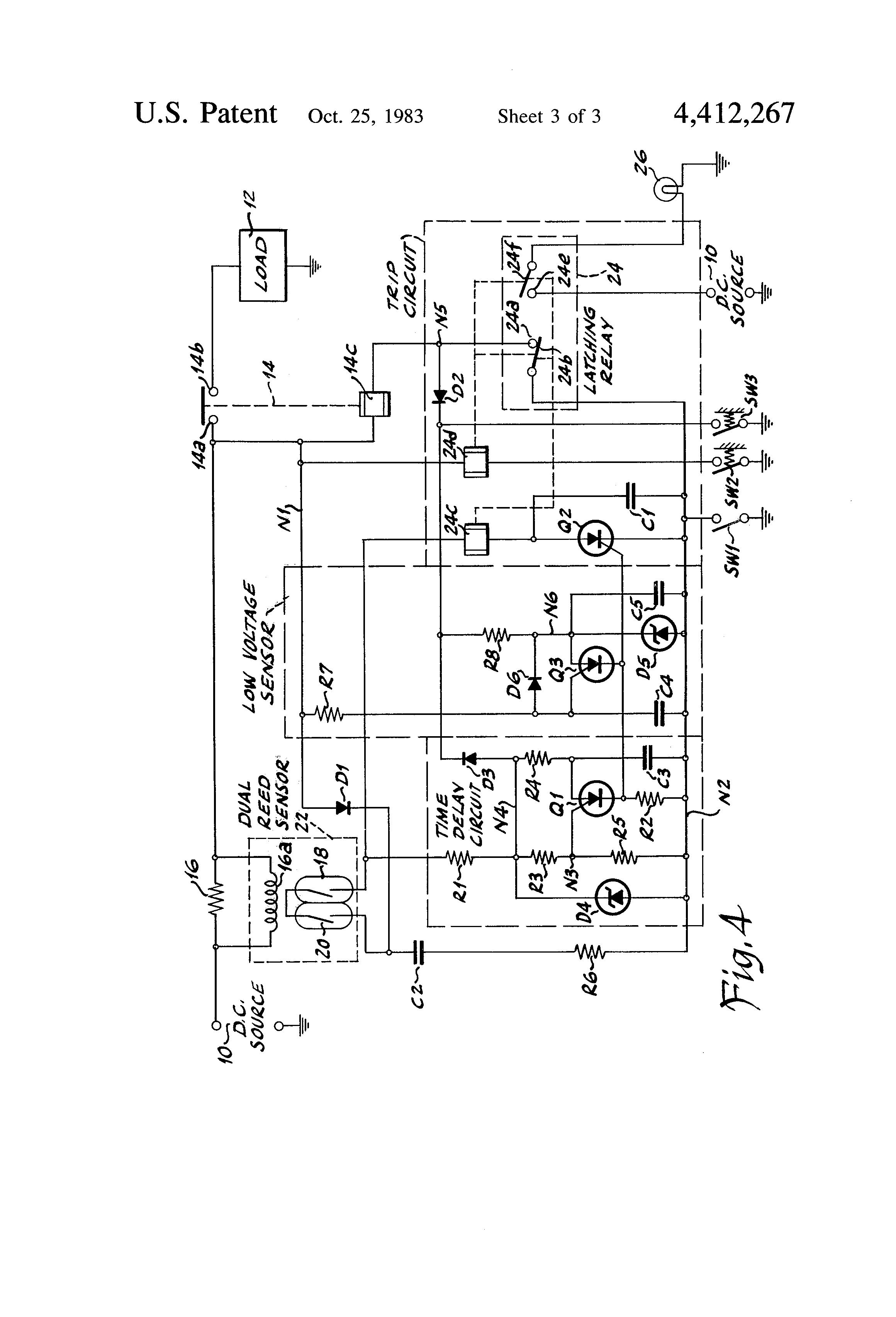 patent us4412267 - time-delay current sensing circuit breaker relay